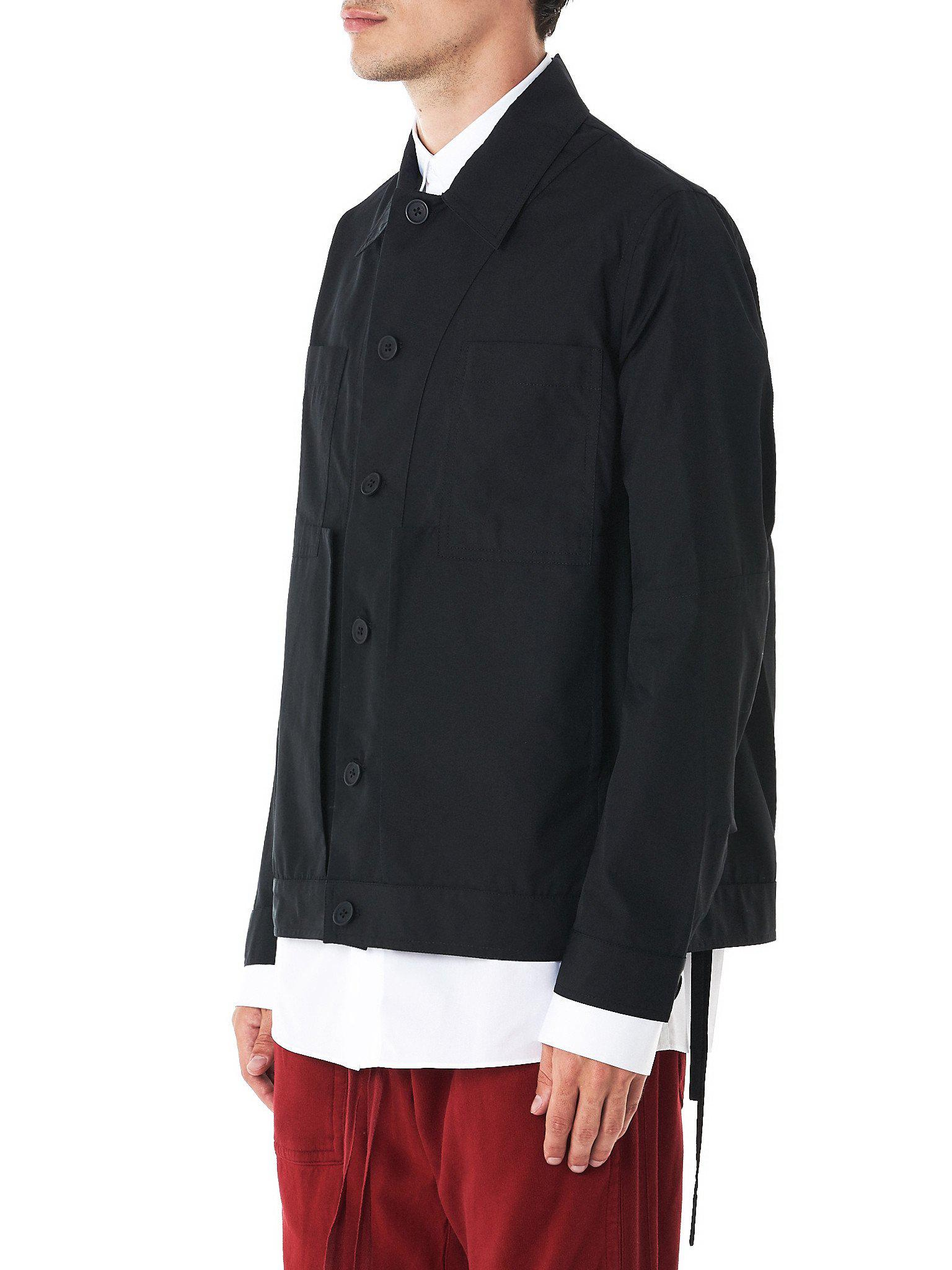 Craig green Assemblage Button-down Work Jacket in Black for Men | Lyst