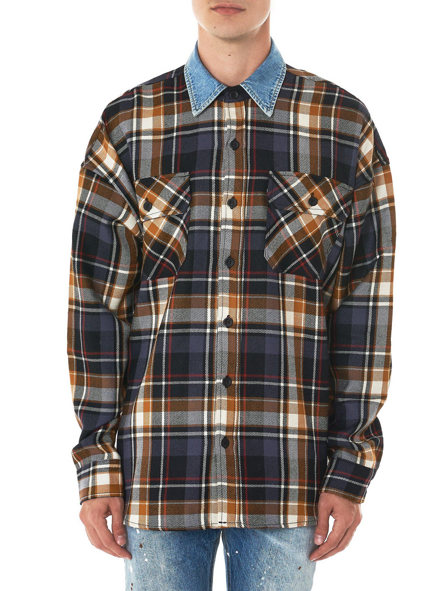 baa67335c5 Lyst - Fear Of God Denim Collar Flannel Shirt for Men