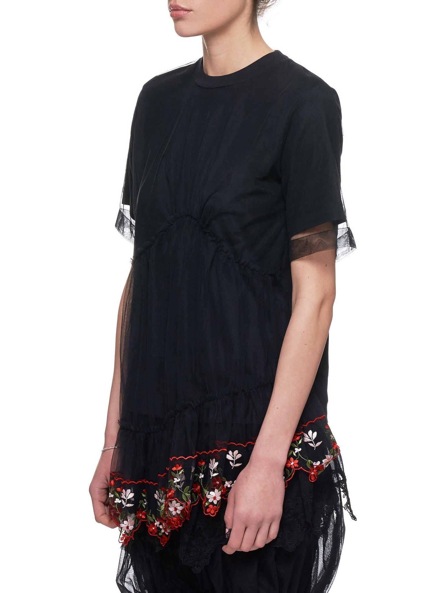 08c7202076acd Lyst - Simone Rocha Tulle T-shirt in Black