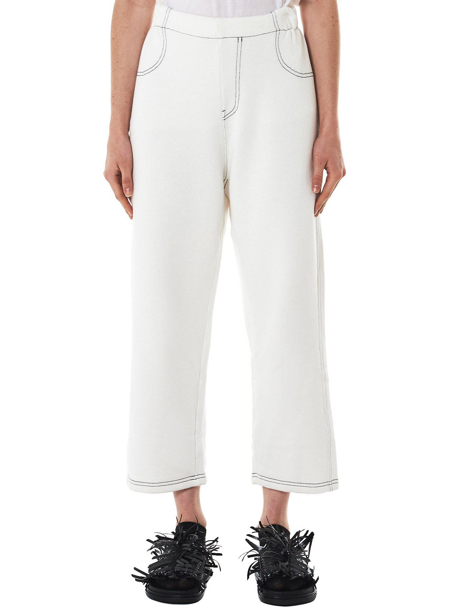 white classic tapered trousers Maison Martin Margiela OHs65Zf