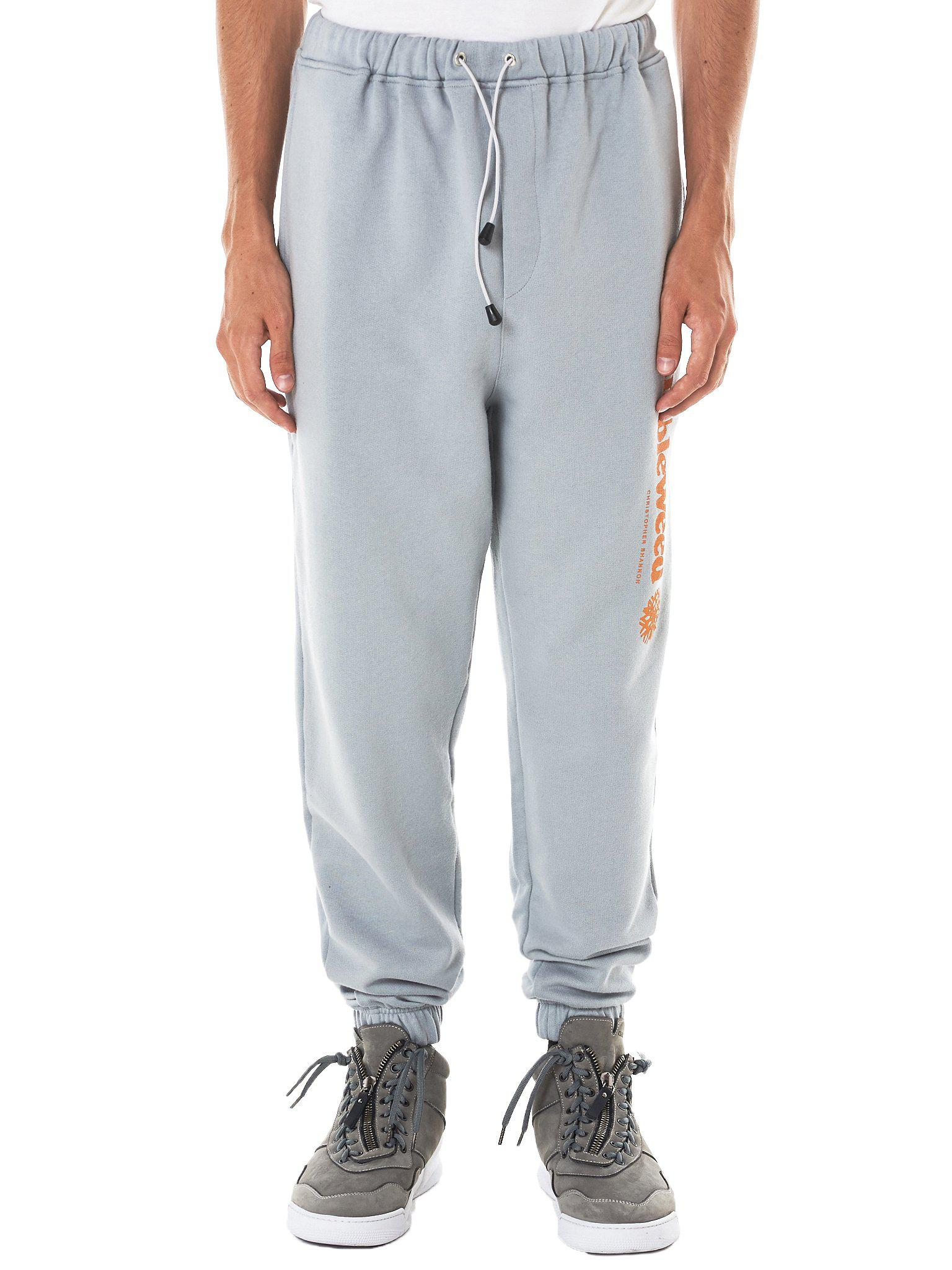 4dcdc336286 Lyst - Christopher Shannon  tumbleweed  Graphic Joggers in Gray for Men