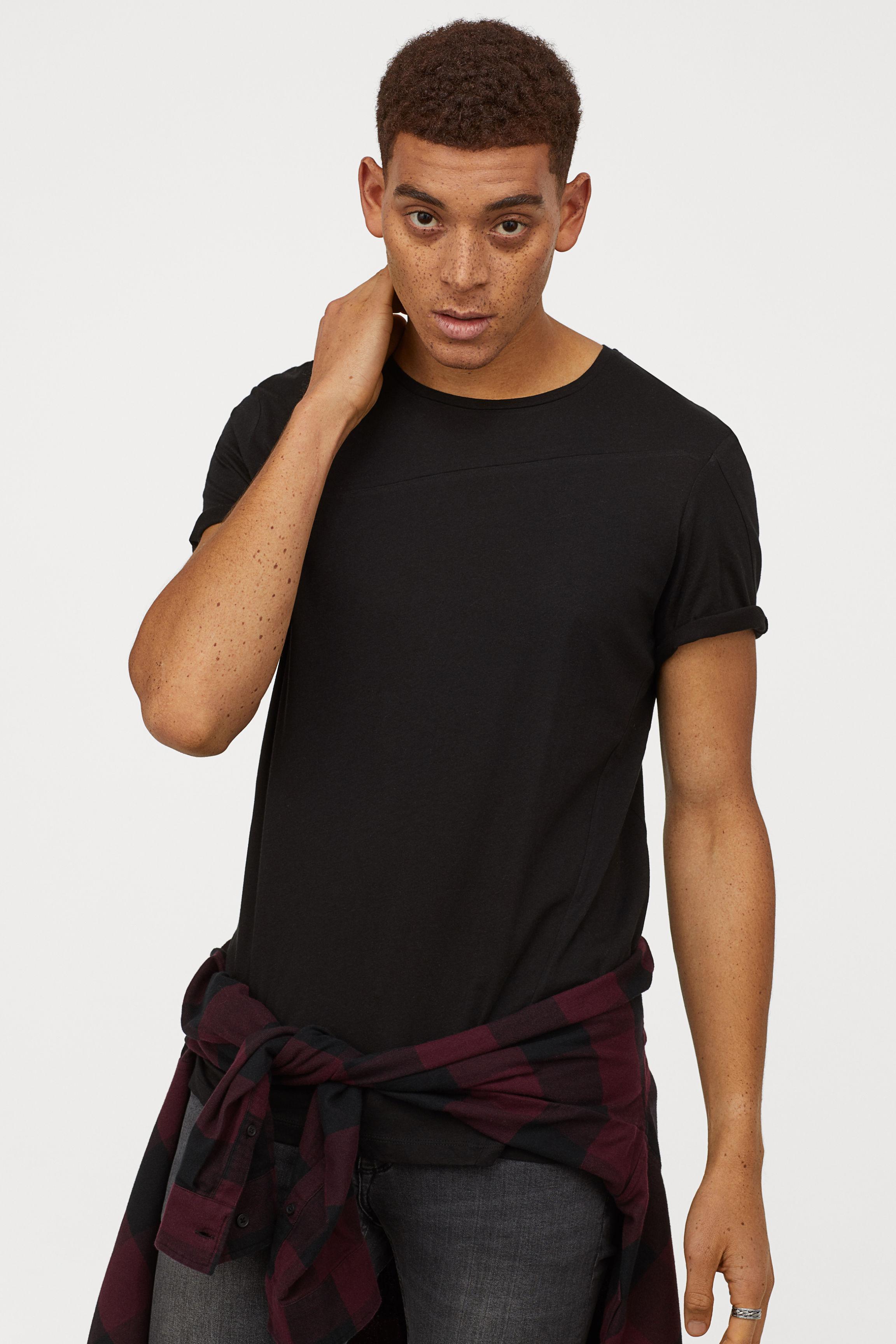 Lyst H M T Shirt In Black For Men