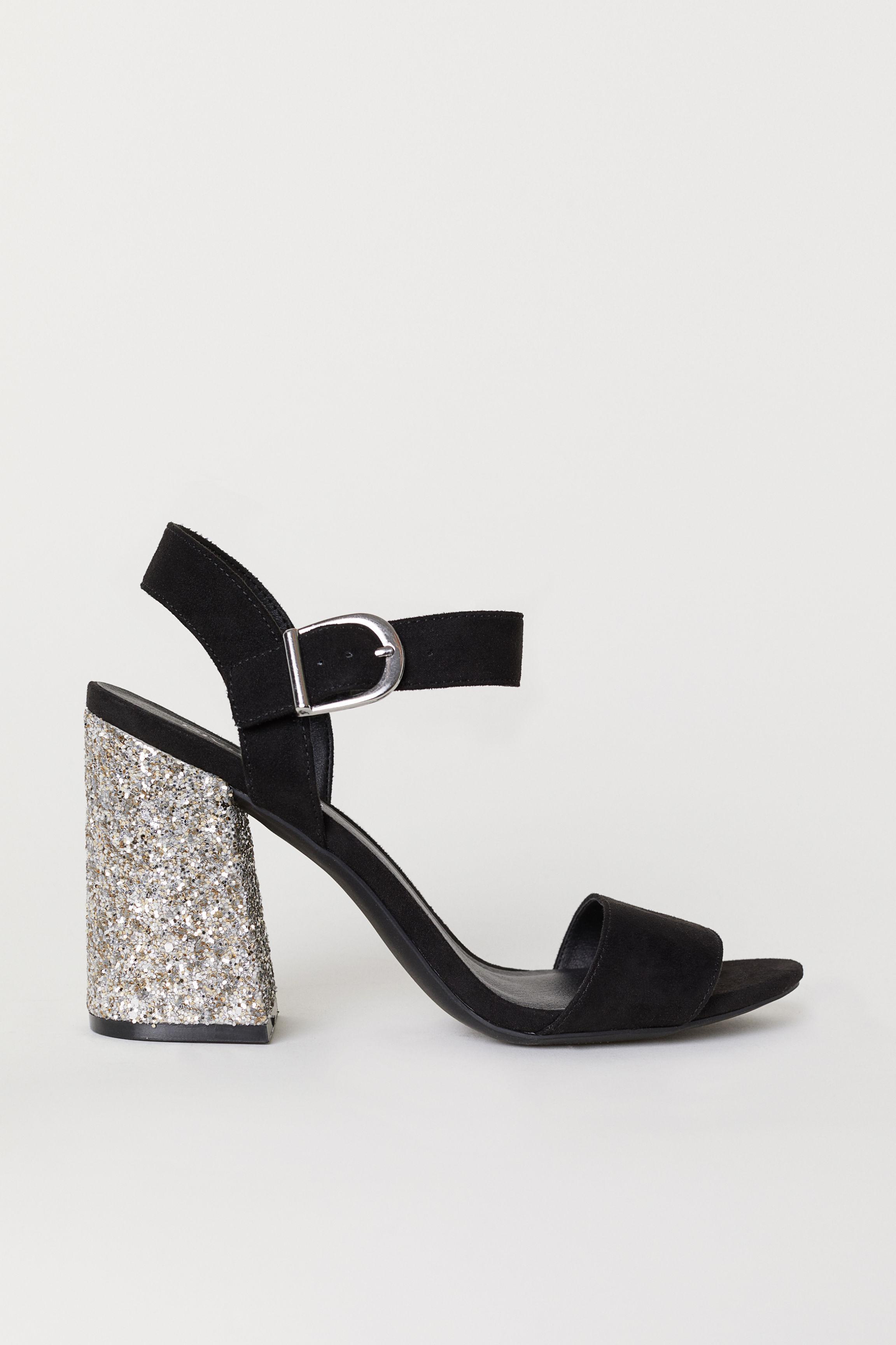5ed19260dd Lyst - H M Block-heeled Sandals in Black