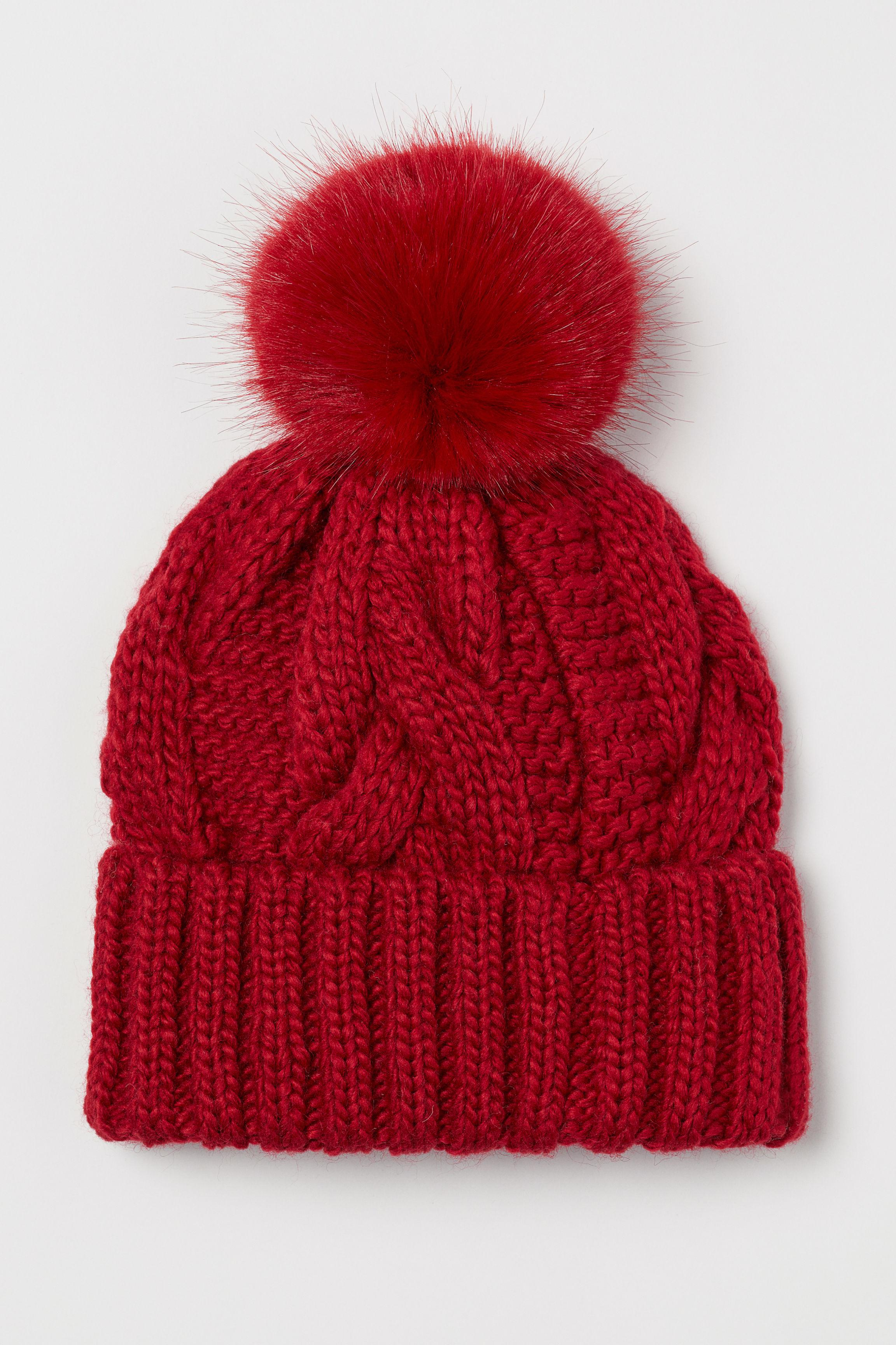84ae42a5b81 Lyst - H M Cable-knit Hat in Red