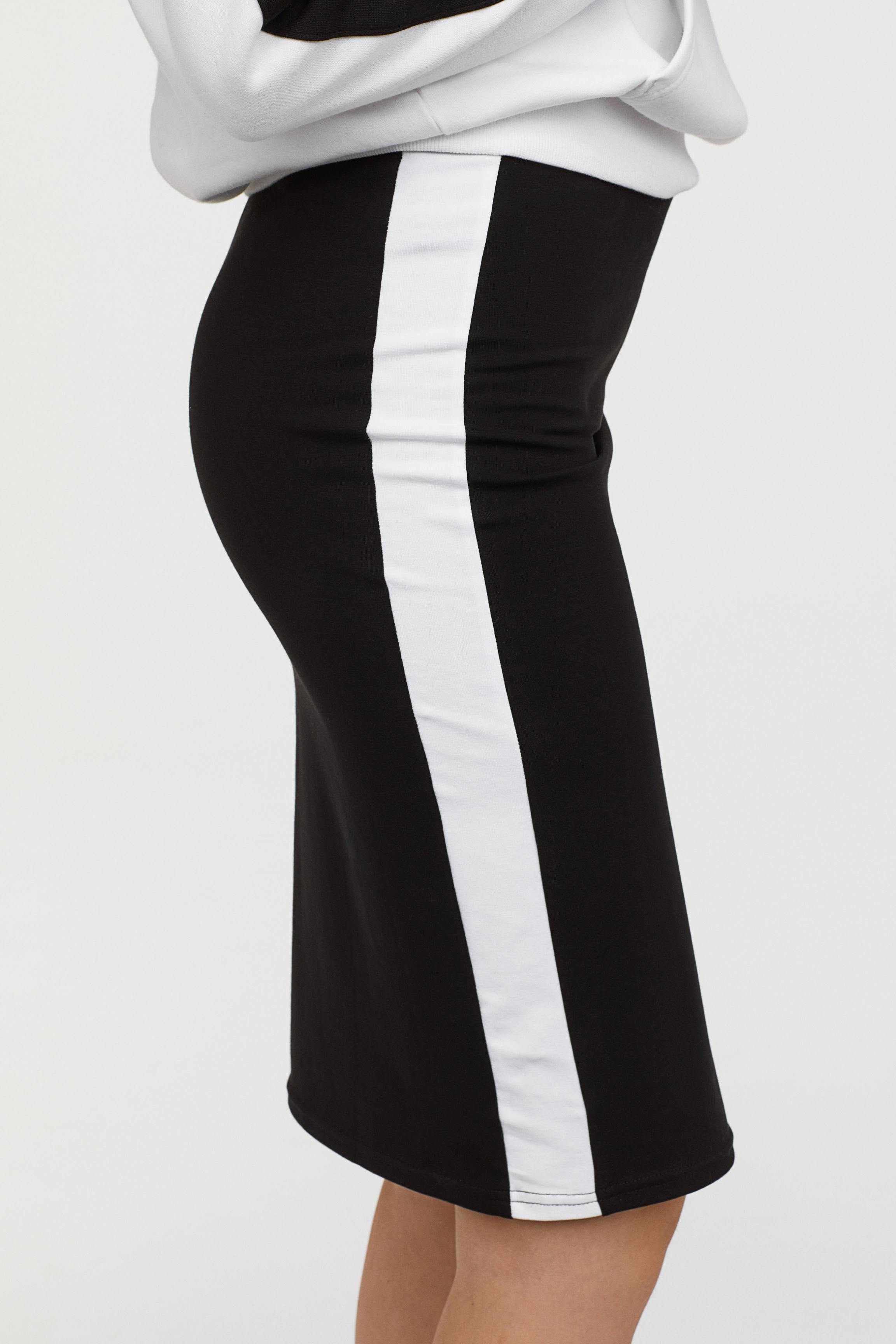 2c6b89391 H&M - Black Jersey Pencil Skirt - Lyst. View fullscreen