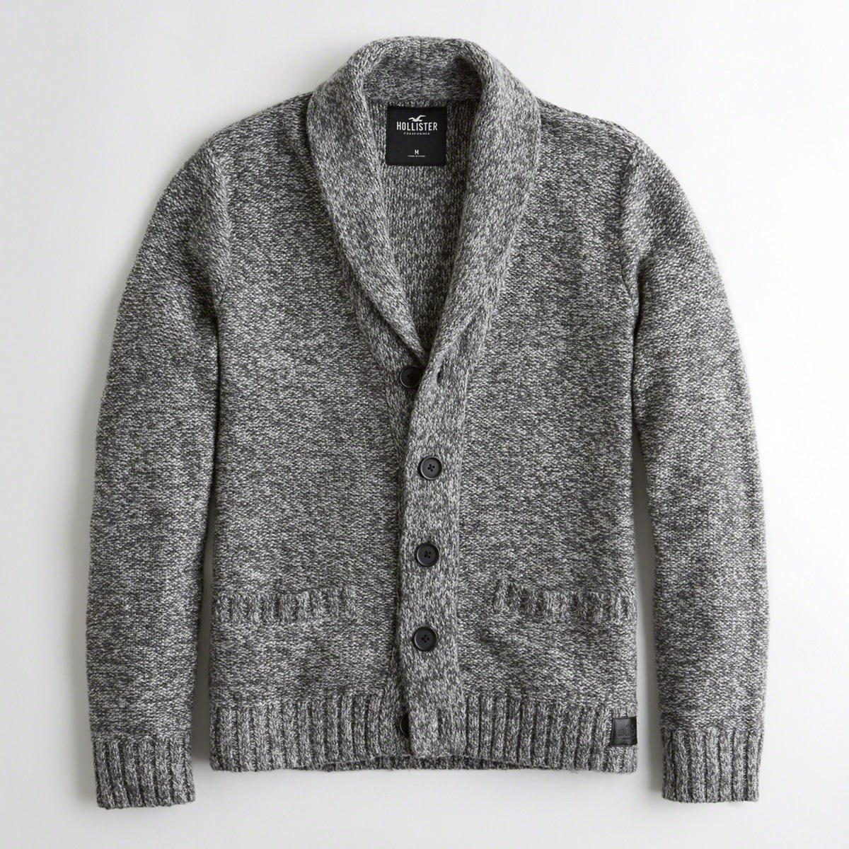 Lyst - Hollister Guys Shawl Cardigan From Hollister in Gray for Men 4762f12e2