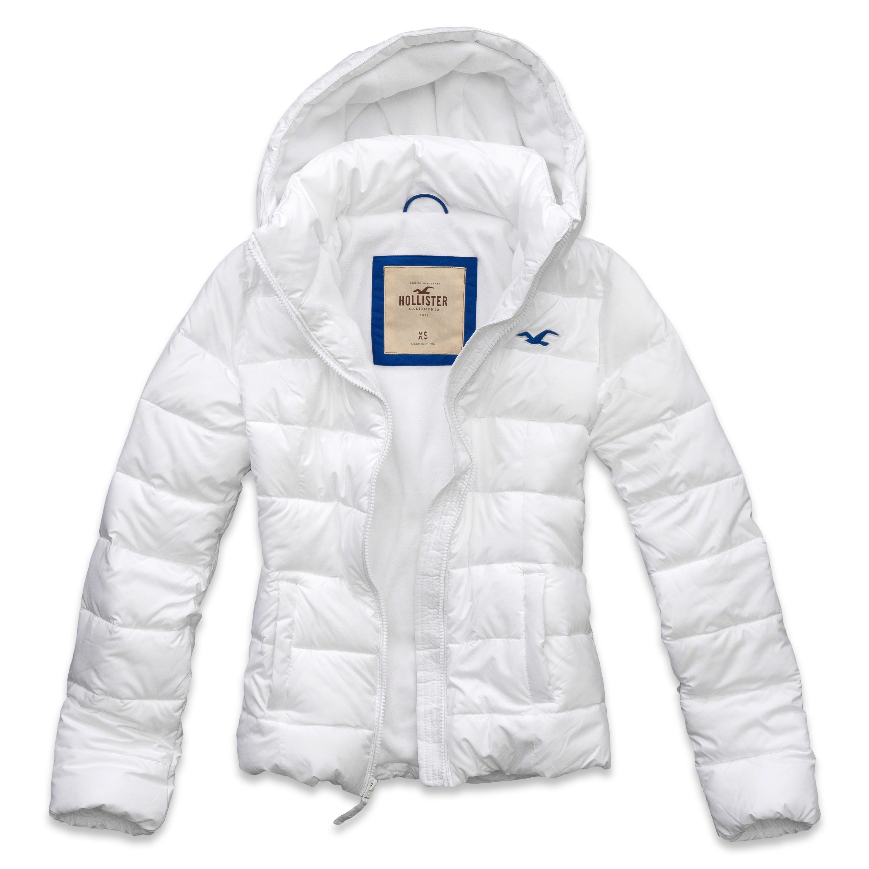 lyst hollister lobster point jacket in white. Black Bedroom Furniture Sets. Home Design Ideas