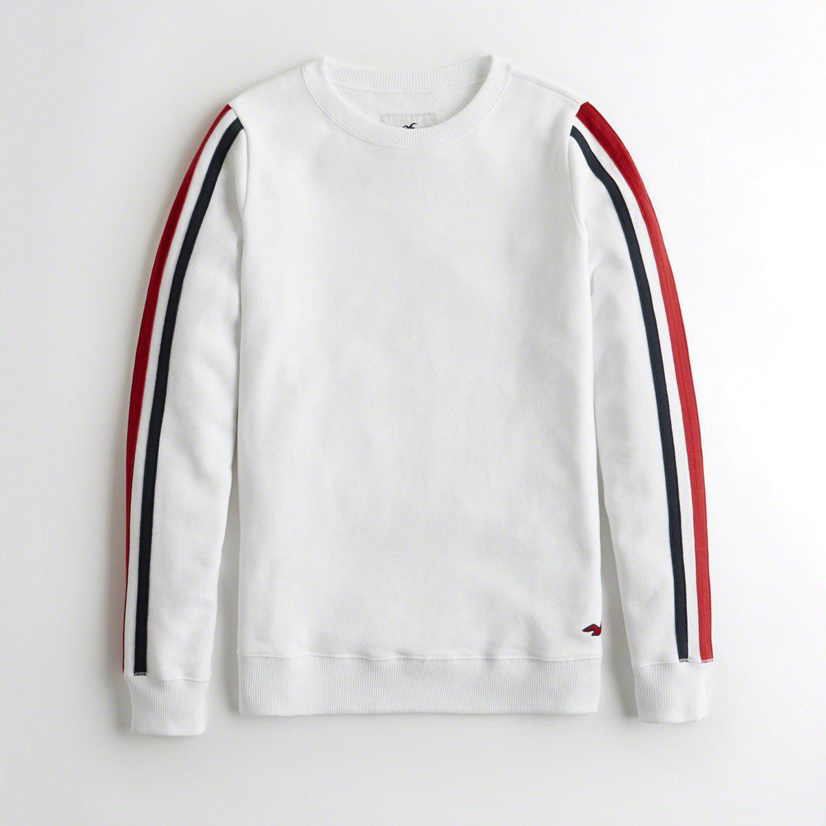 60d87b9e2 Hollister. Women's White Girls Oversized Crewneck Sweatshirt From Hollister