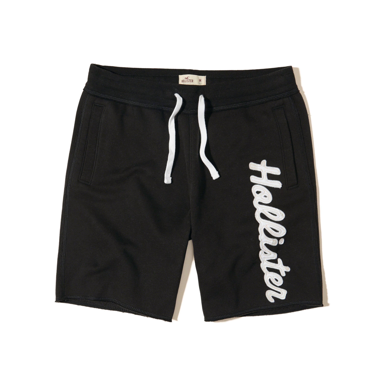 8649d8feb8 Lyst - Hollister Classic Fit Fleece Shorts in Black for Men