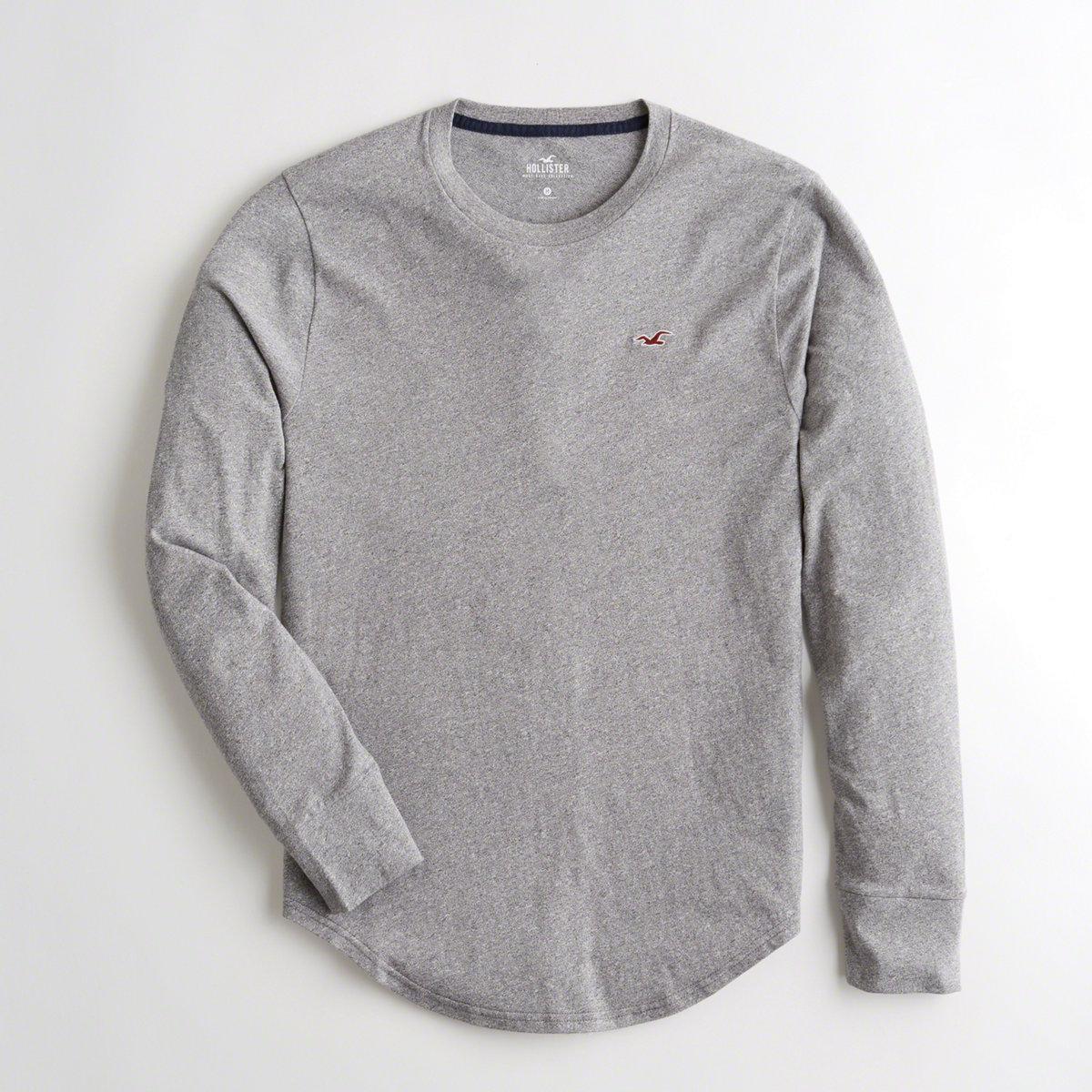 8059067c55b8 ... Guys Curved Hem Crewneck T-shirt From Hollister for Men - Lyst. View  fullscreen