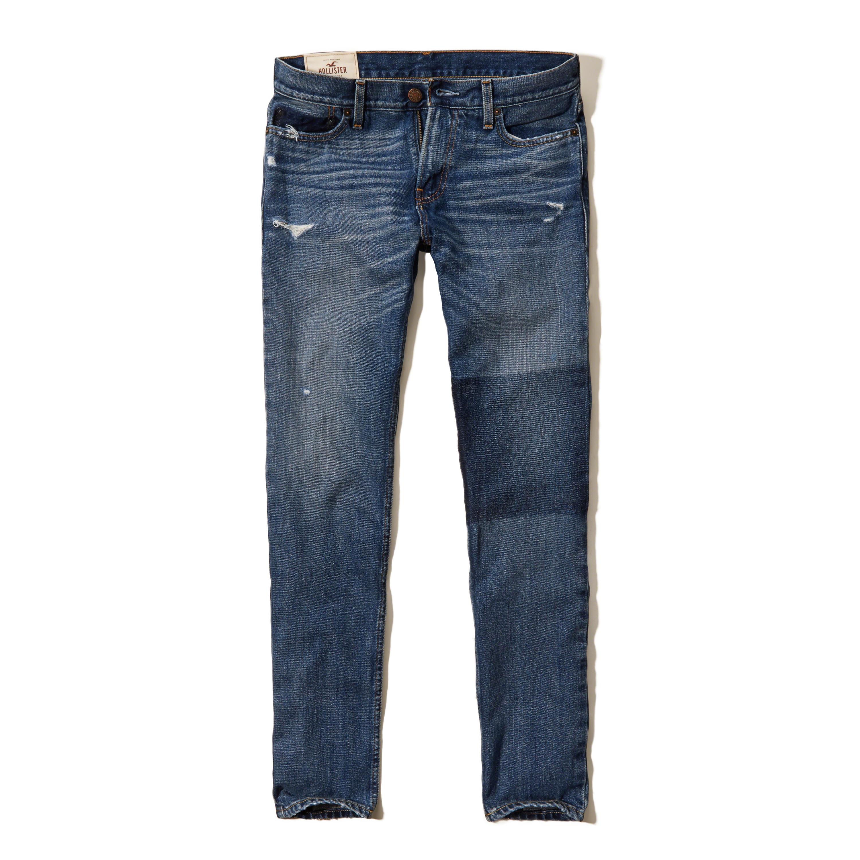 Lyst - Hollister Skinny Jeans in Blue for Men
