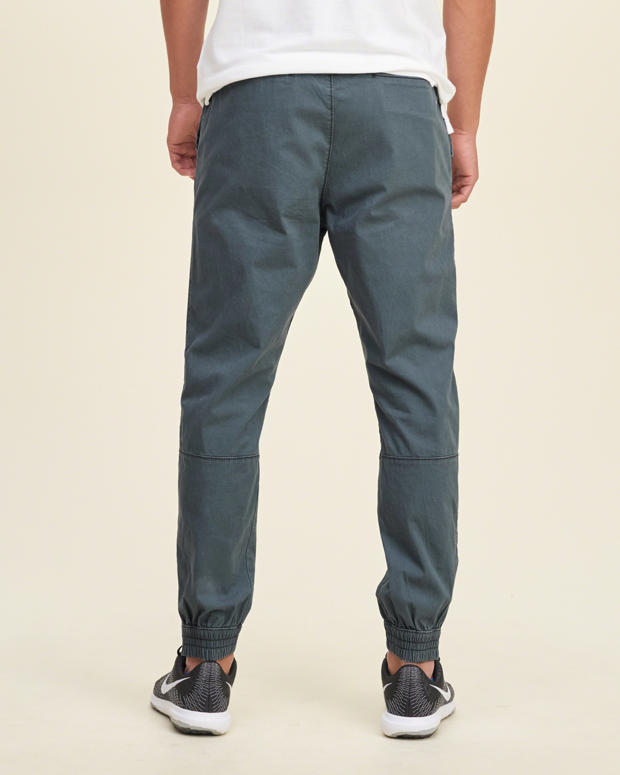 Hollister Ankle-zip Twill Jogger Pants in Blue for Men | Lyst