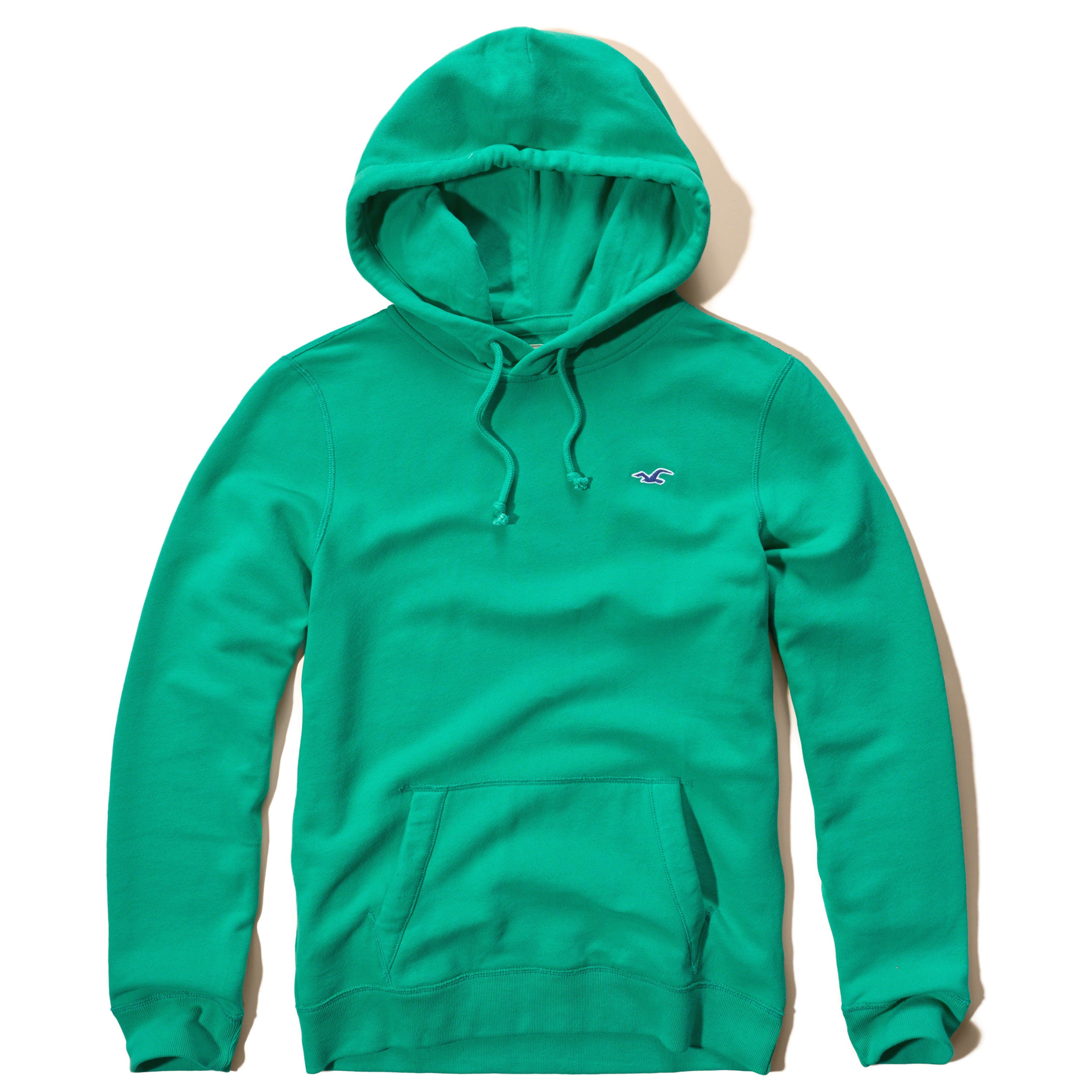 Hollister Iconic Fleece Hoodie In Green For Men