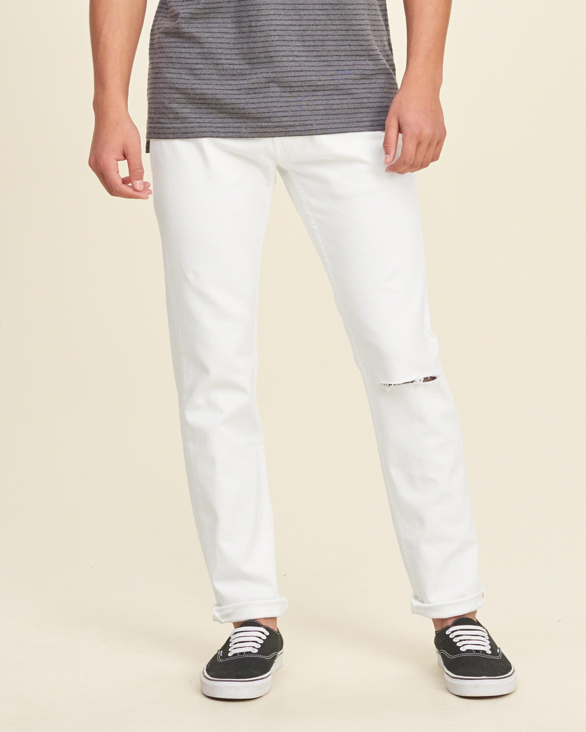 Lyst - Hollister Skinny Jeans in White for Men