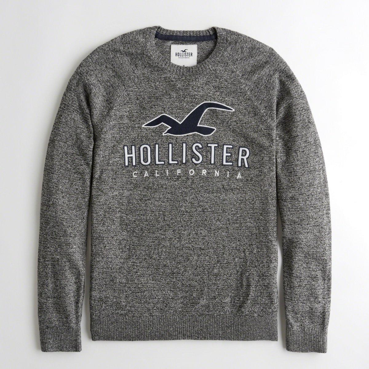 7787d981 Hollister Guys Logo Crewneck Sweatshirt From Hollister in Gray for ...