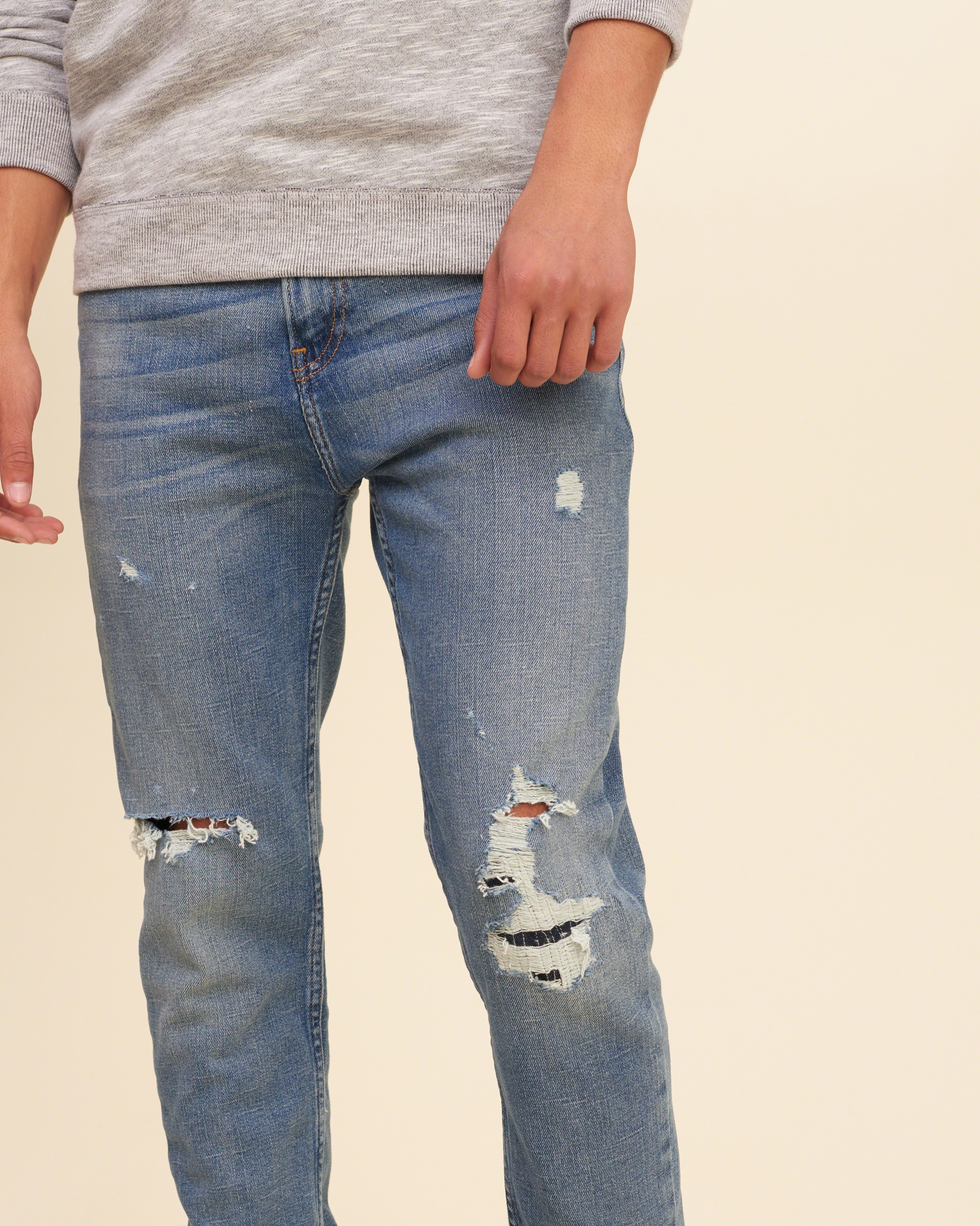 Hollister Classic Taper Jeans in Blue for Men   Lyst