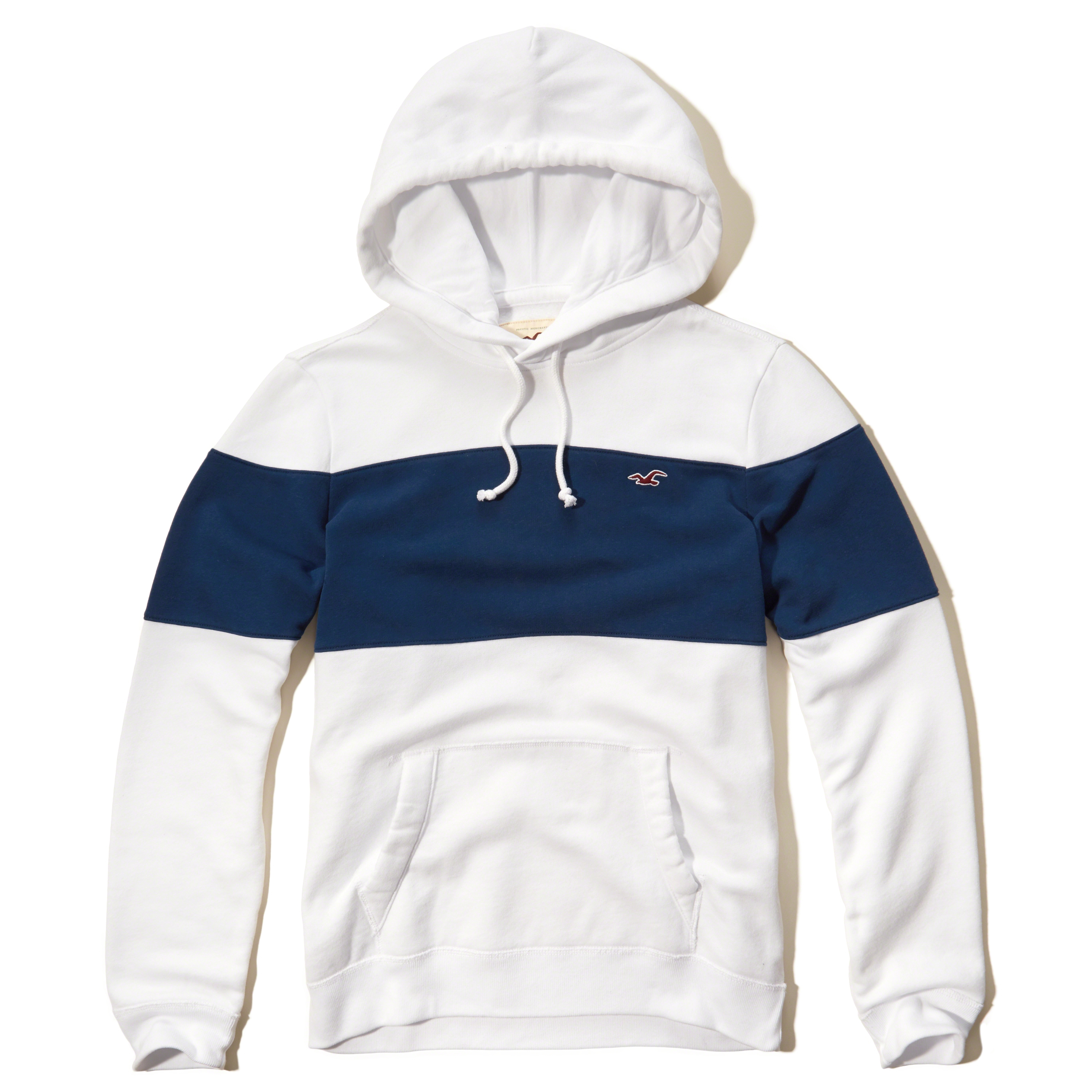 Hollister Iconic Colorblock Hoodie In Blue For Men