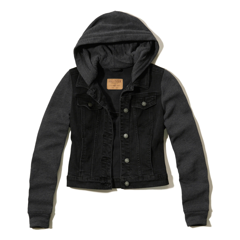 Hollister Twofer Hooded Jacket In Black Lyst