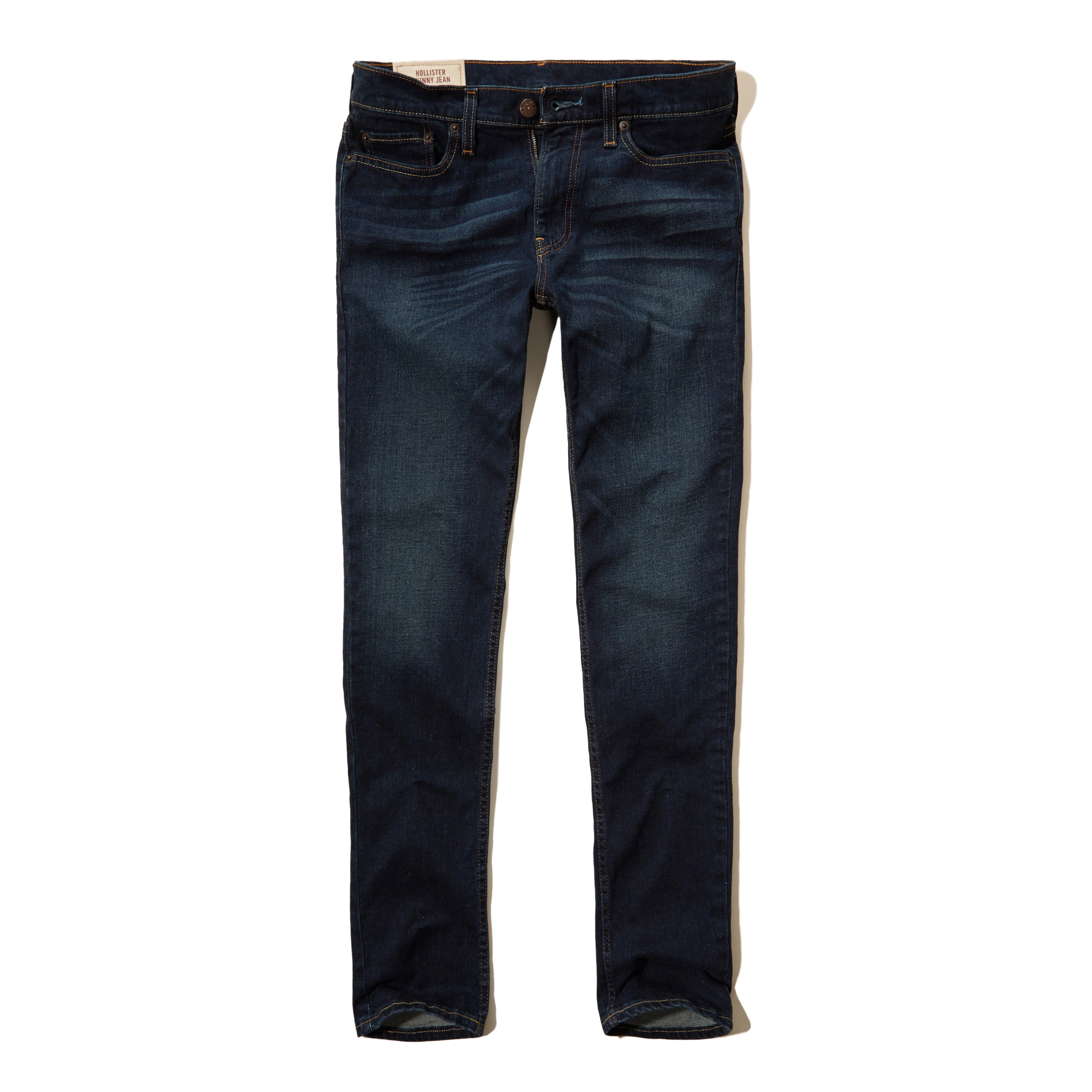 hollister dark jeans for men -#main