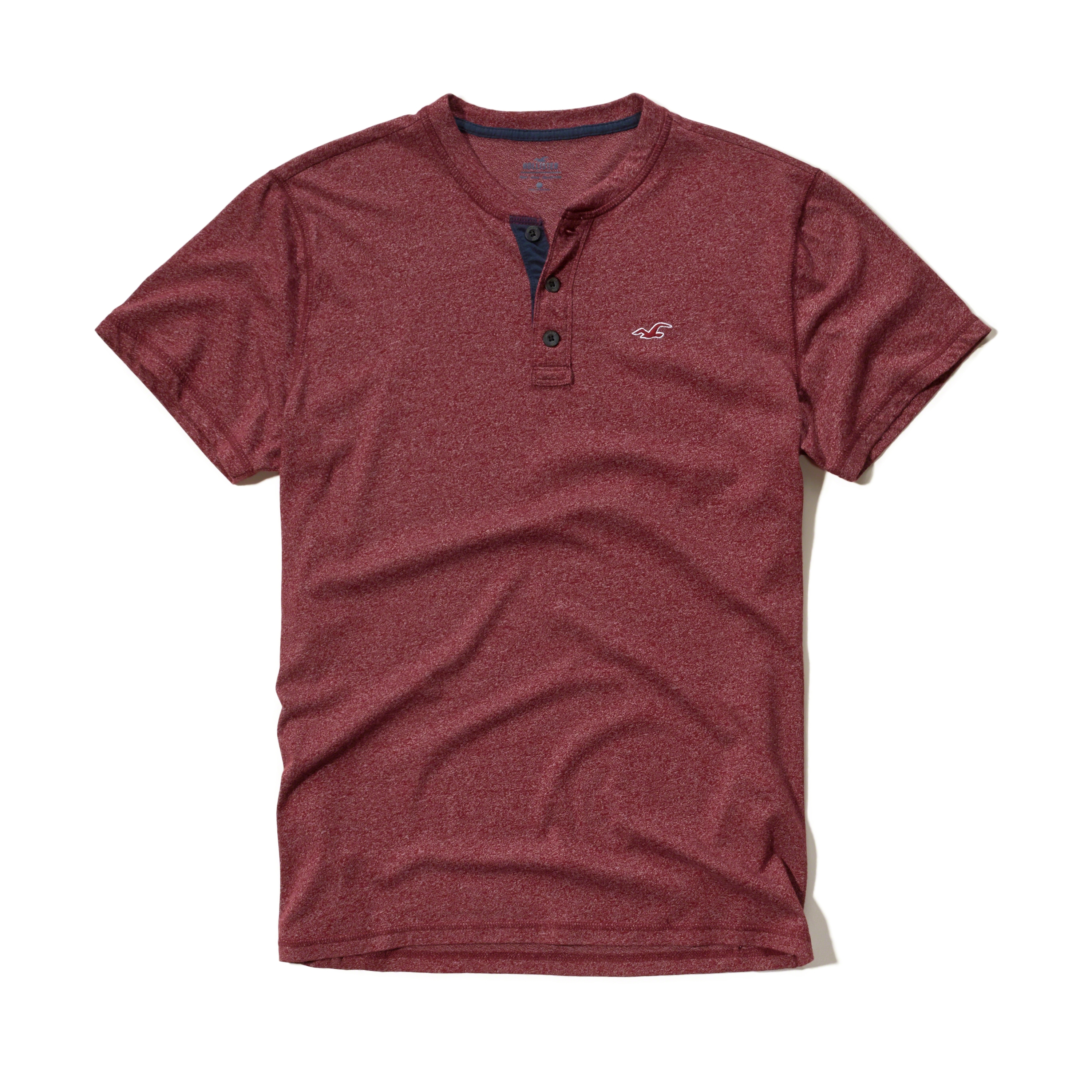 Lyst hollister must have henley in purple for men for Must have dress shirts
