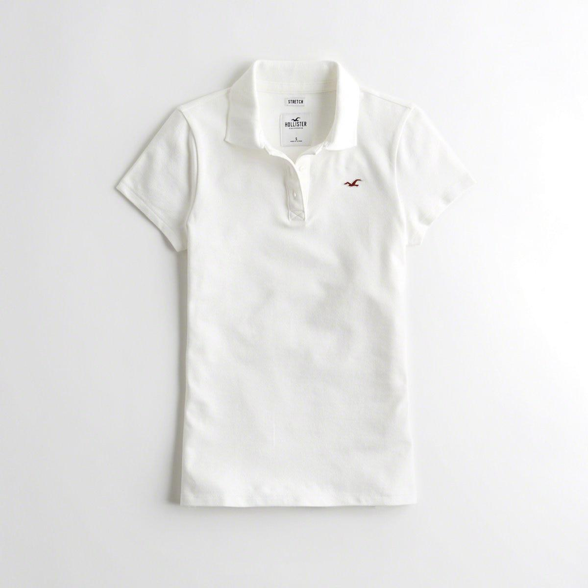 45cf9f02a Lyst - Hollister Girls Slim Icon Polo From Hollister in White