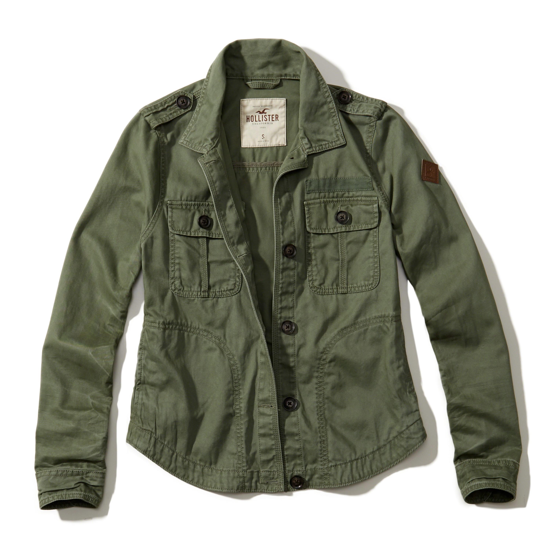Green Cargo Jacket Mens