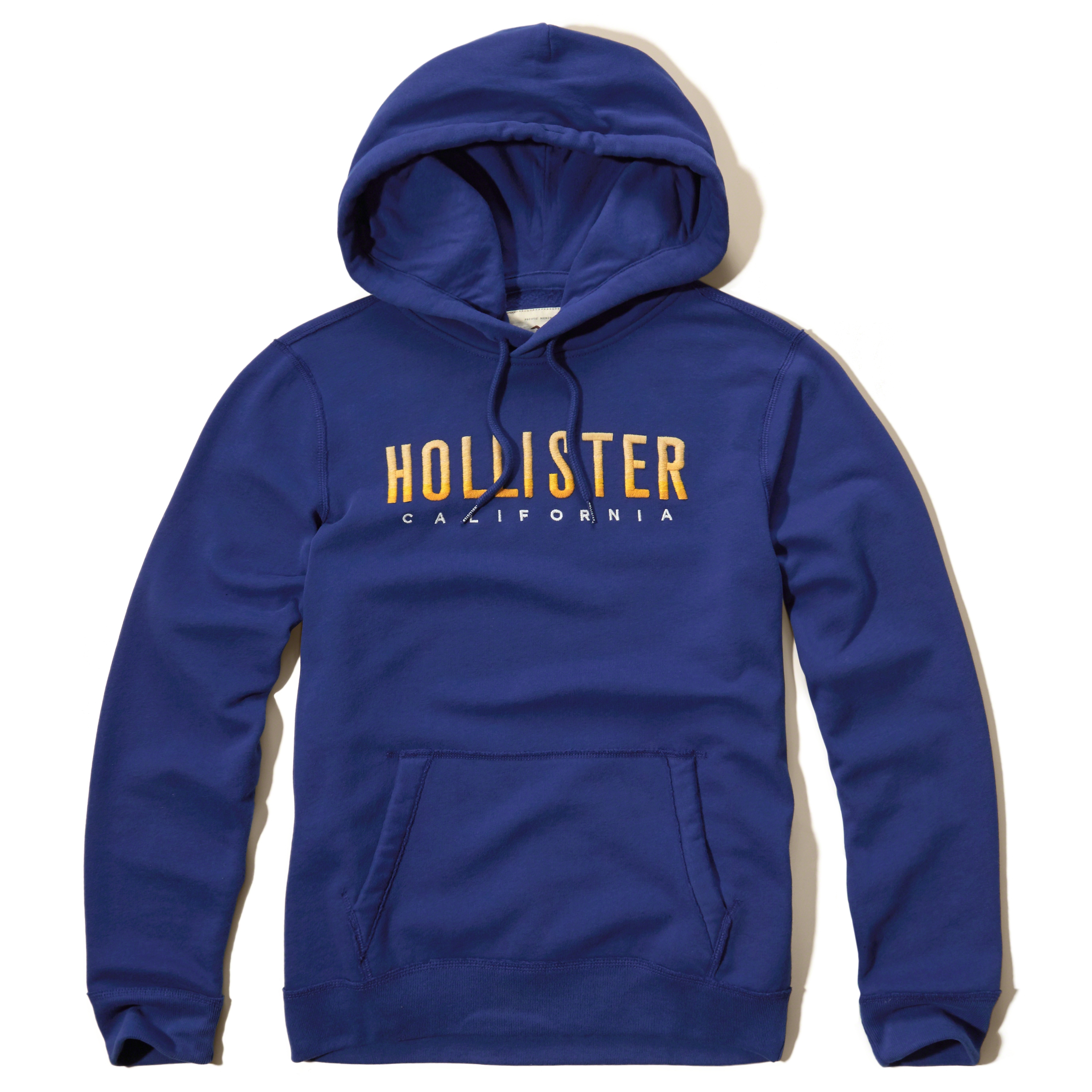 hollister ombre logo graphic hoodie in blue for men lyst