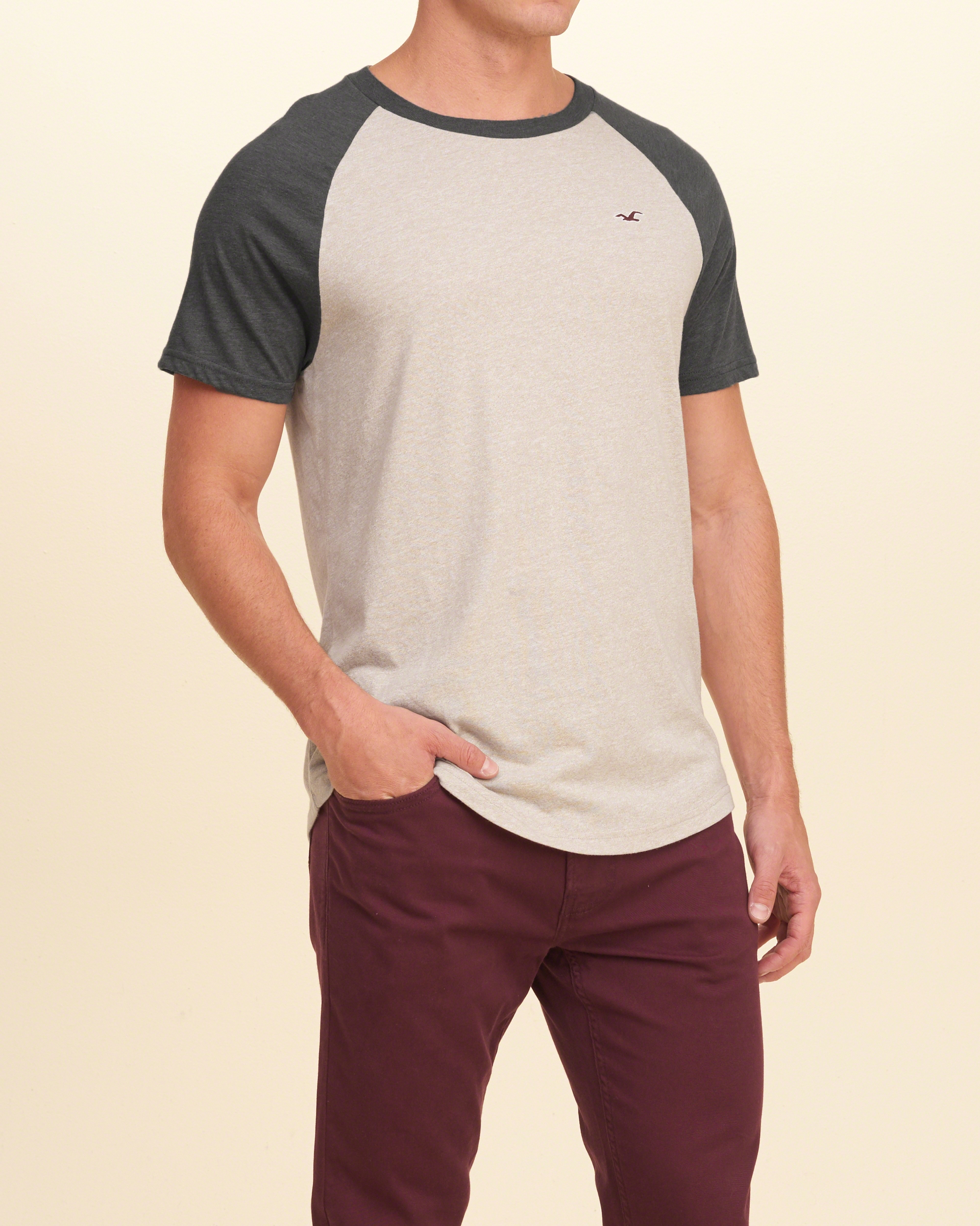 Lyst hollister must have colorblock raglan t shirt for men for Must have dress shirts
