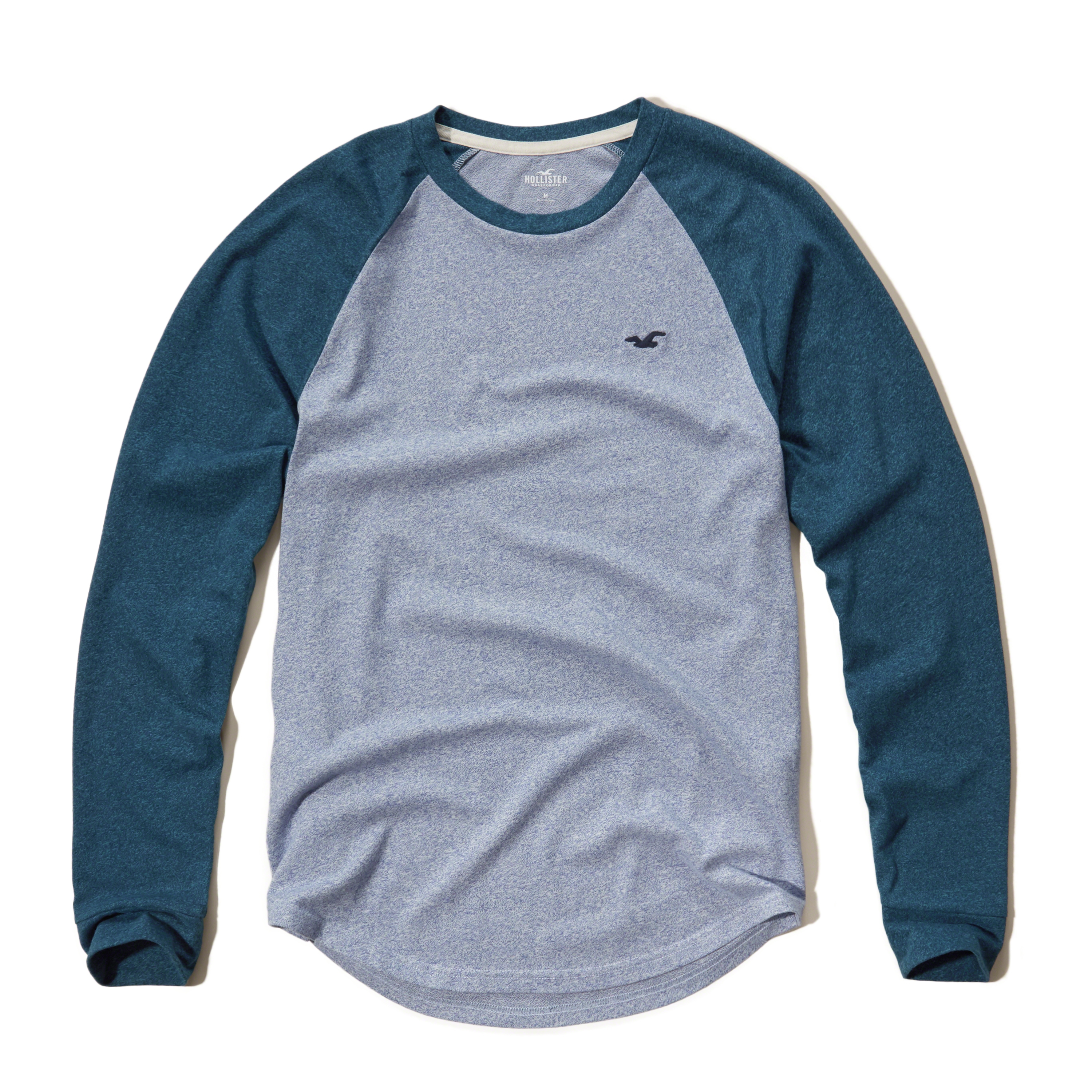 Hollister Textured Colorblock Raglan T-shirt in Blue for Men | Lyst