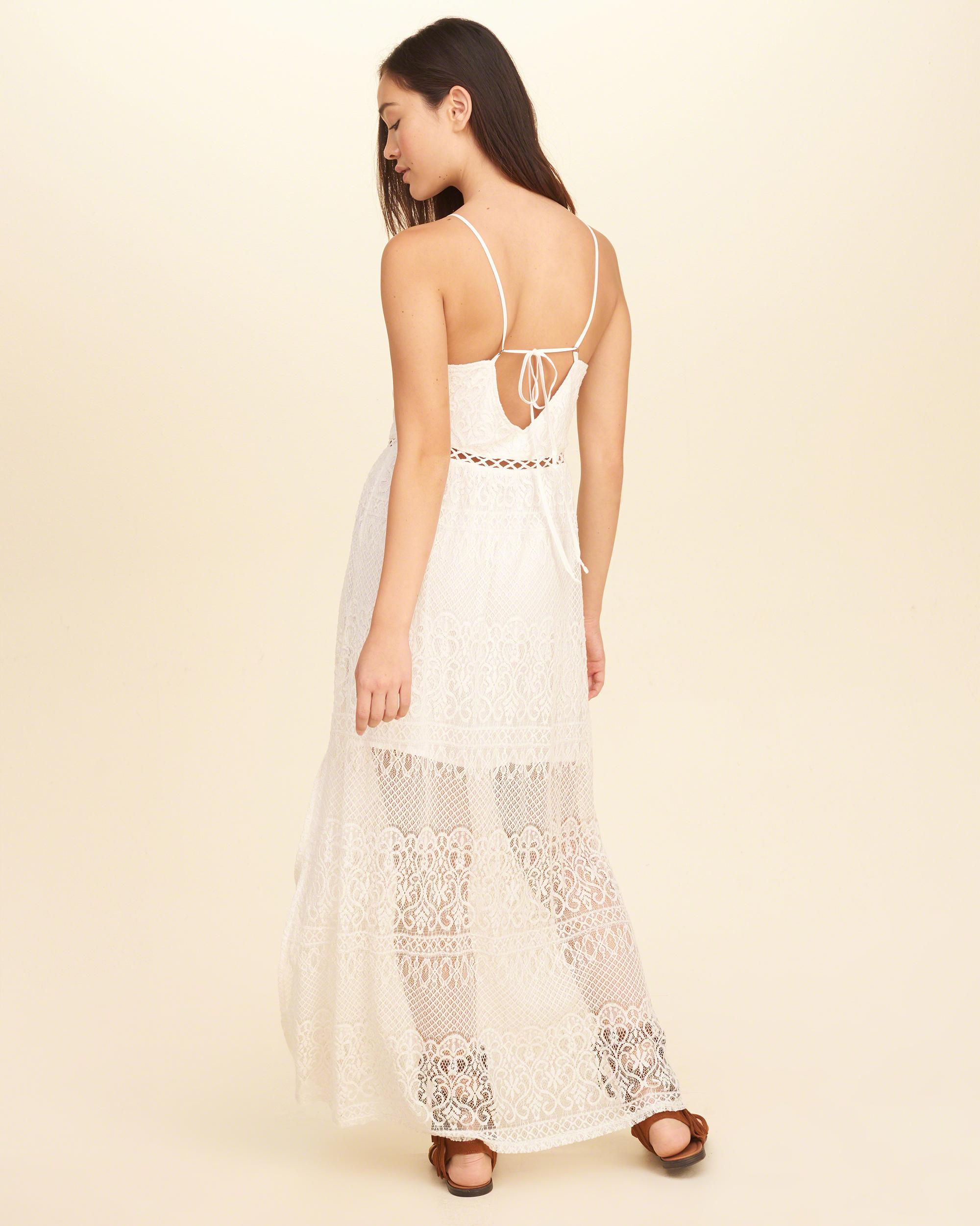 Hollister White Lace Dress : Fashion Show Collection