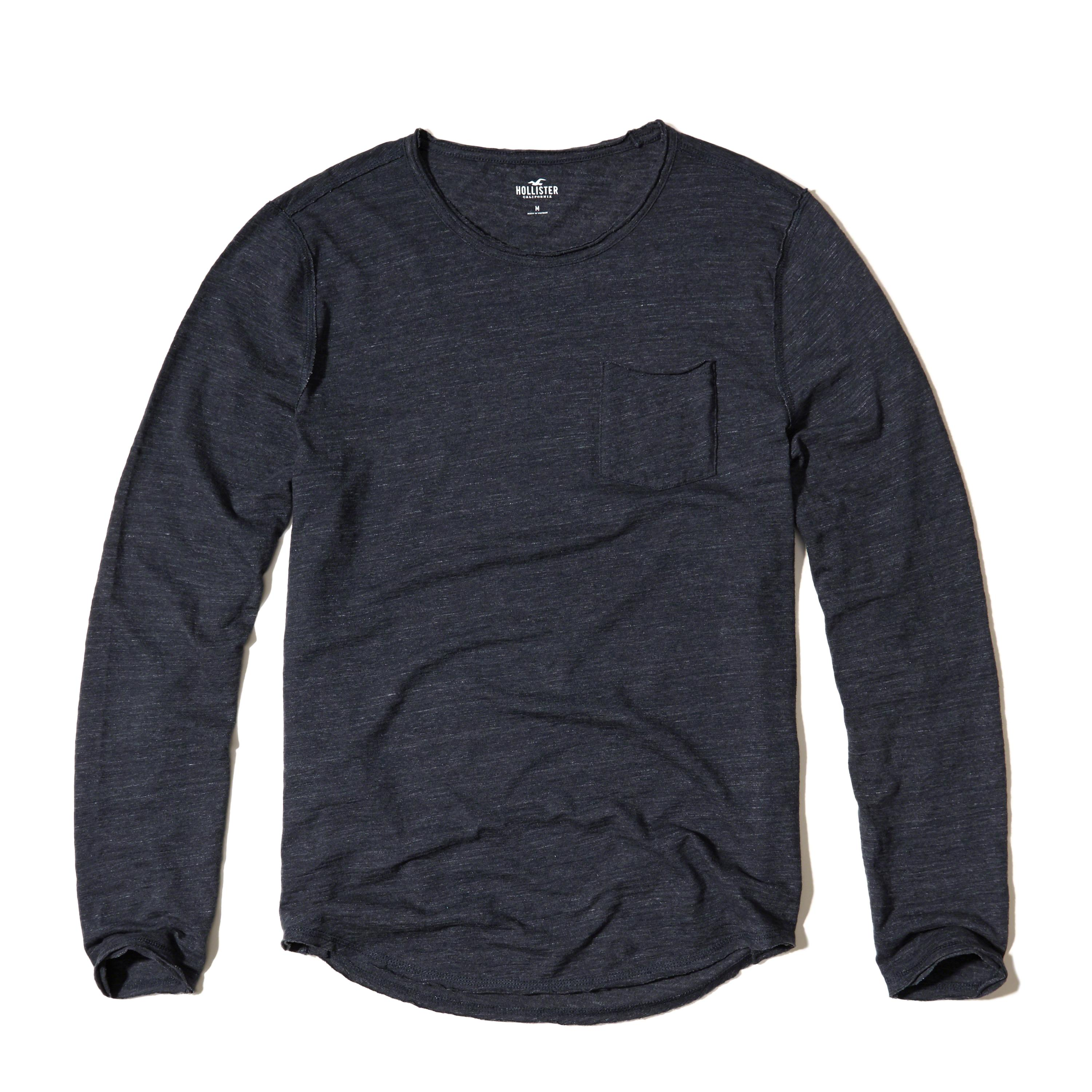 Hollister Long-sleeve Easy Fit T-shirt in Blue for Men | Lyst