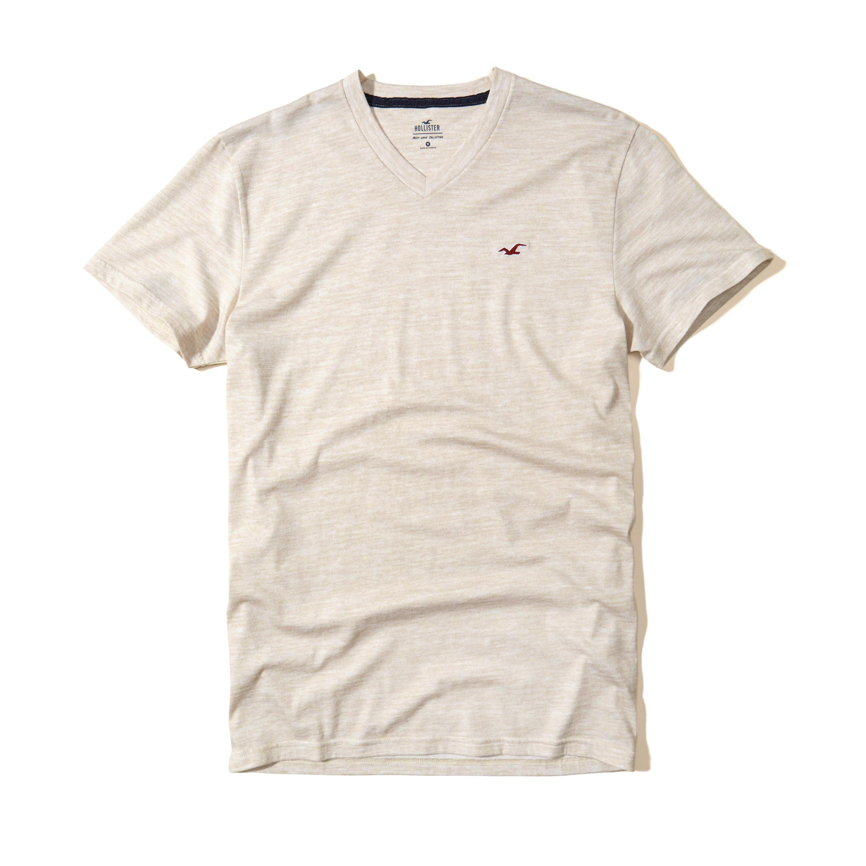 Lyst hollister must have textured v neck t shirt in for Must have dress shirts