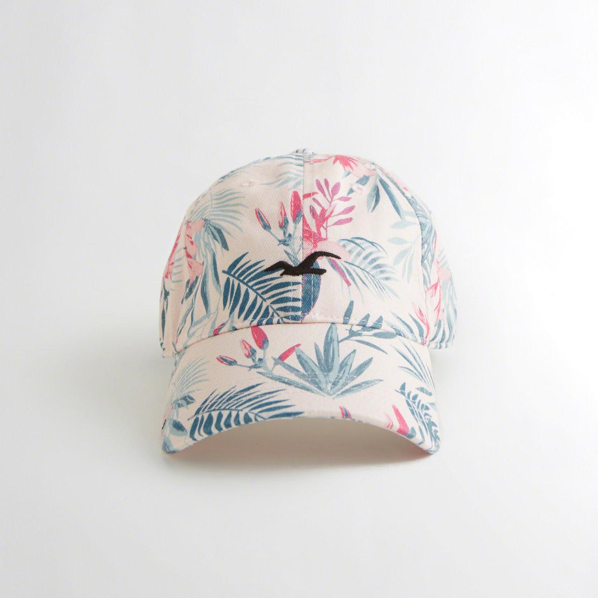 b97bd748791 Lyst - Hollister Guys Floral Twill Dad Hat From Hollister in Pink ...