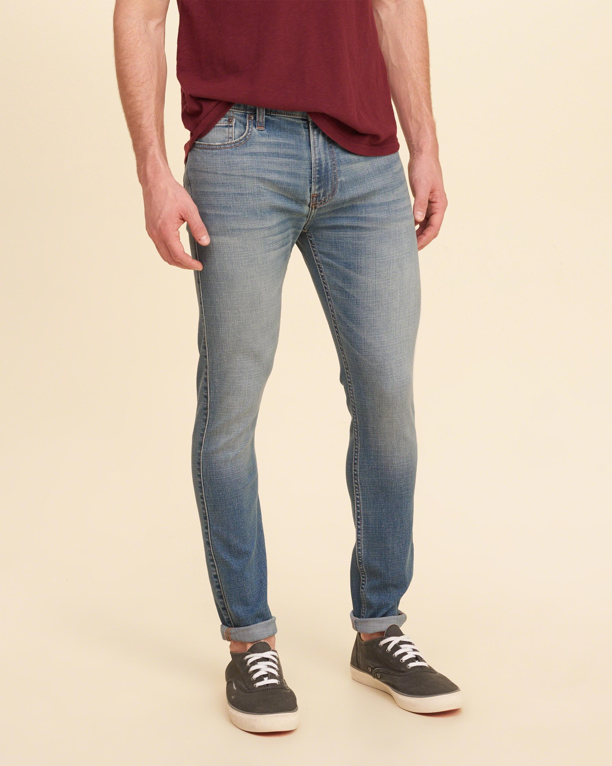 Lyst - Hollister Extreme Skinny Jeans in Blue for Men