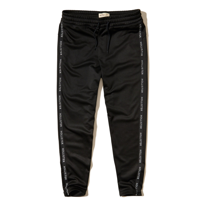Lyst - Hollister Taper Track Pants in Black for Men