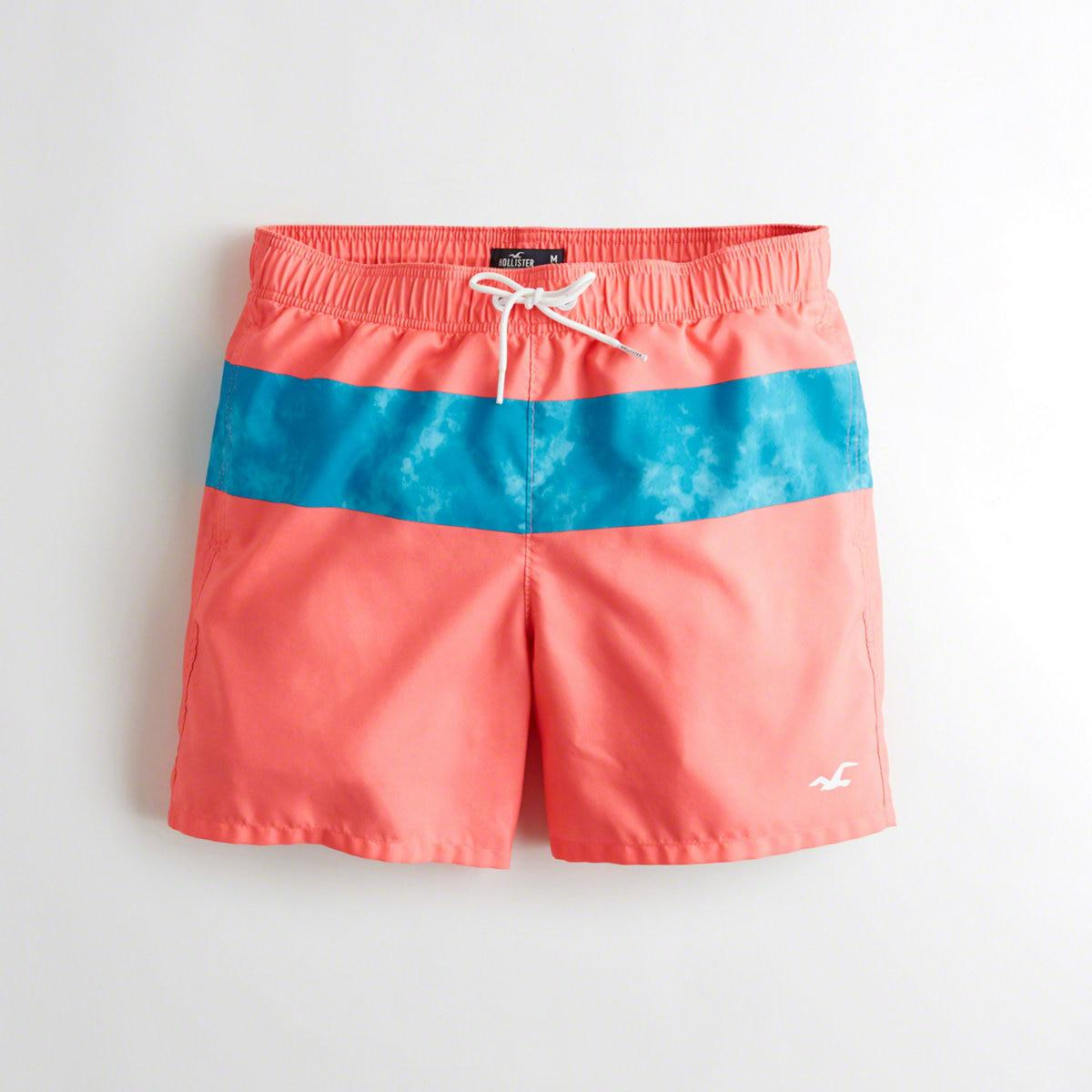b86ced1e1b Lyst - Hollister Guys Guard Fit Swim Trunks From Hollister for Men