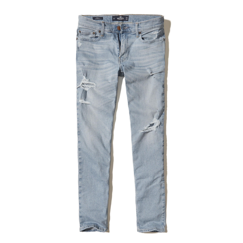 Lyst - Hollister Skinny Jeans in Blue for Men - Save 51%