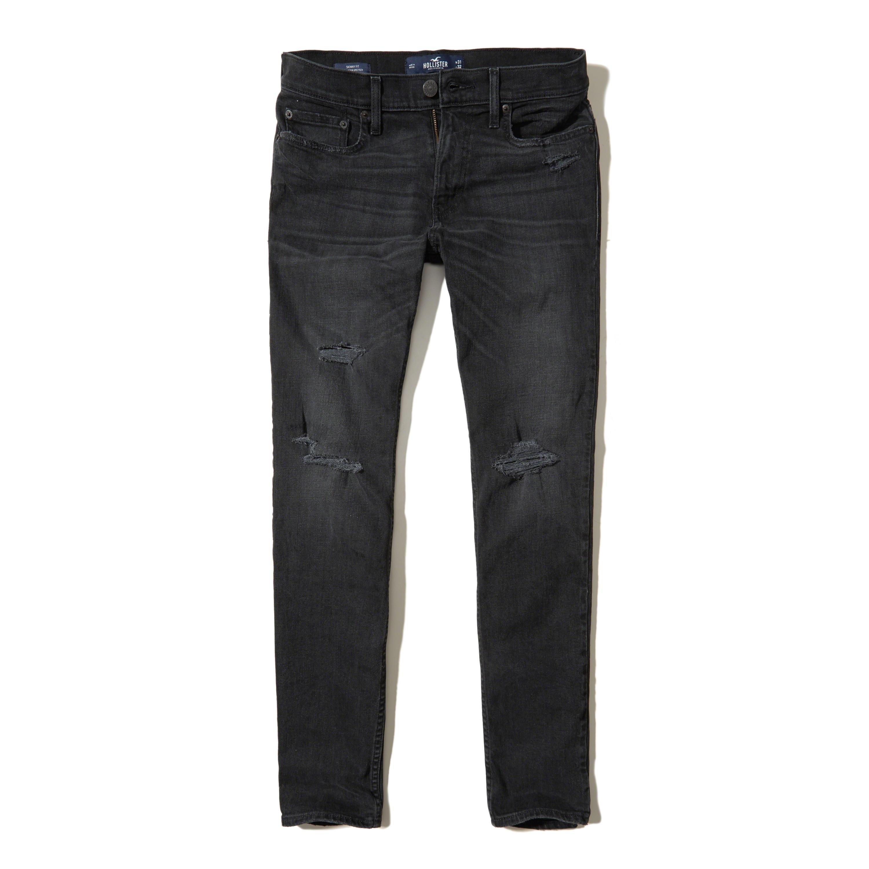Lyst - Hollister Skinny Jeans in Black for Men