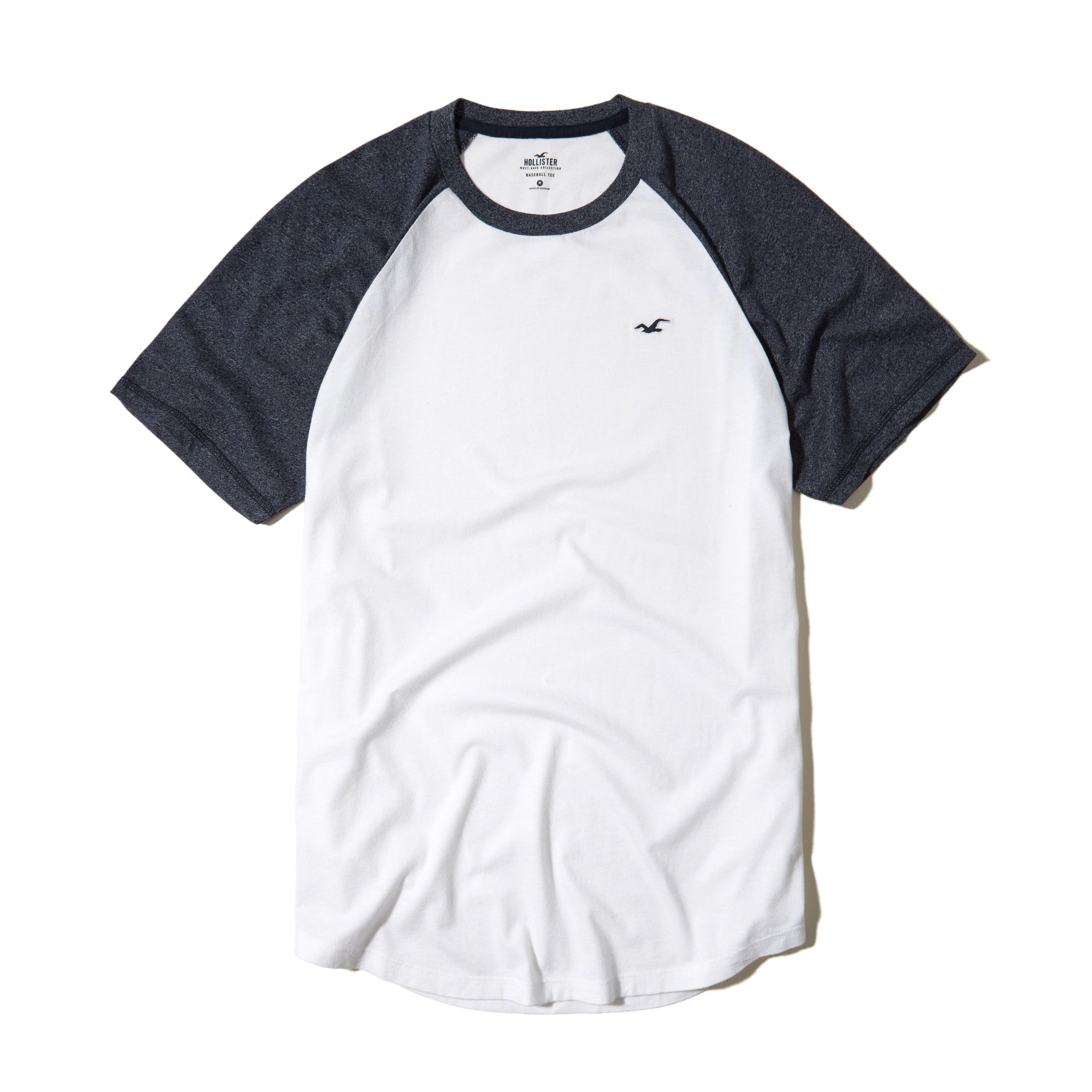 Hollister must have colorblock crew t shirt in white for for Must have dress shirts