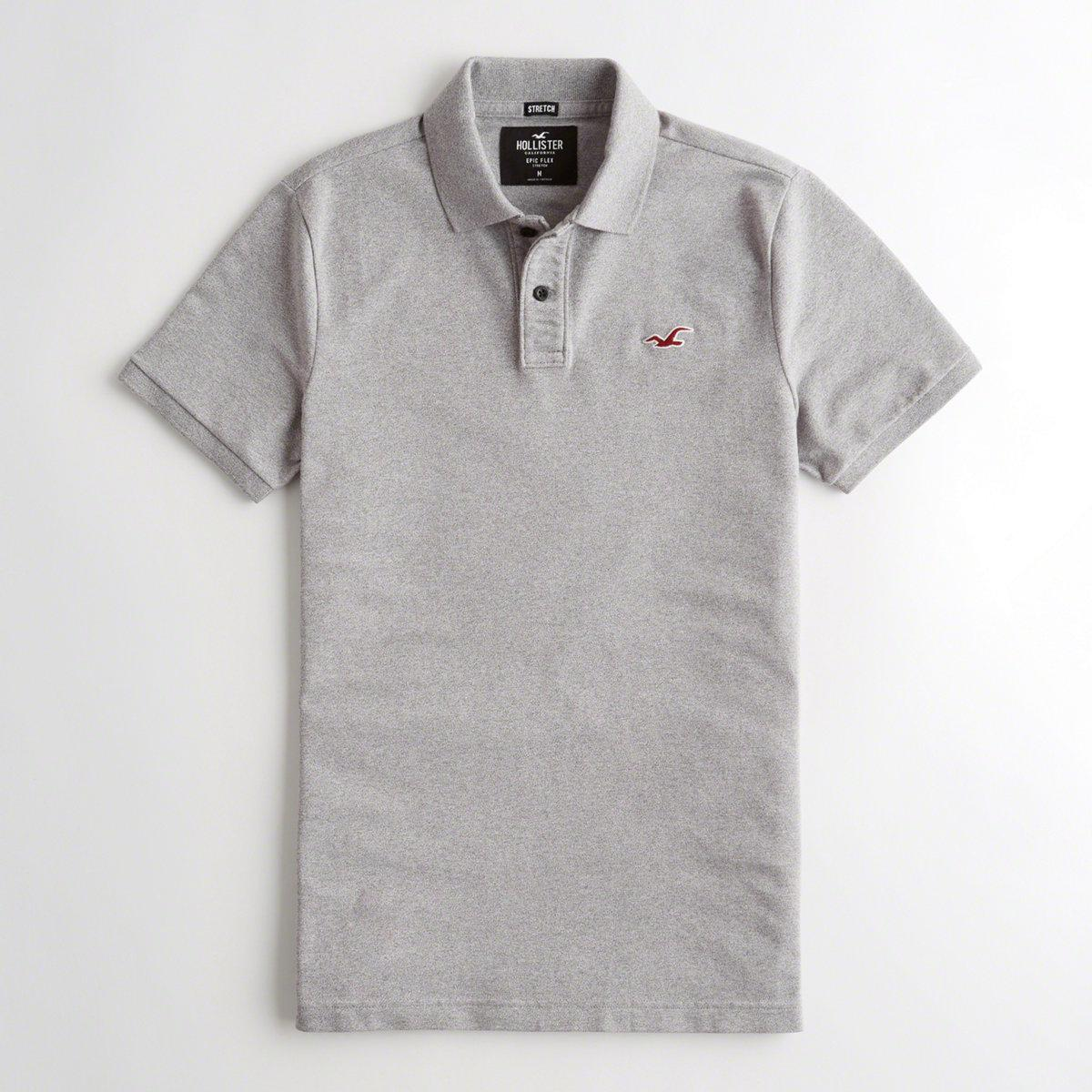 795507f7 Lyst - Hollister Guys Stretch Slim Fit Polo From Hollister in Gray ...