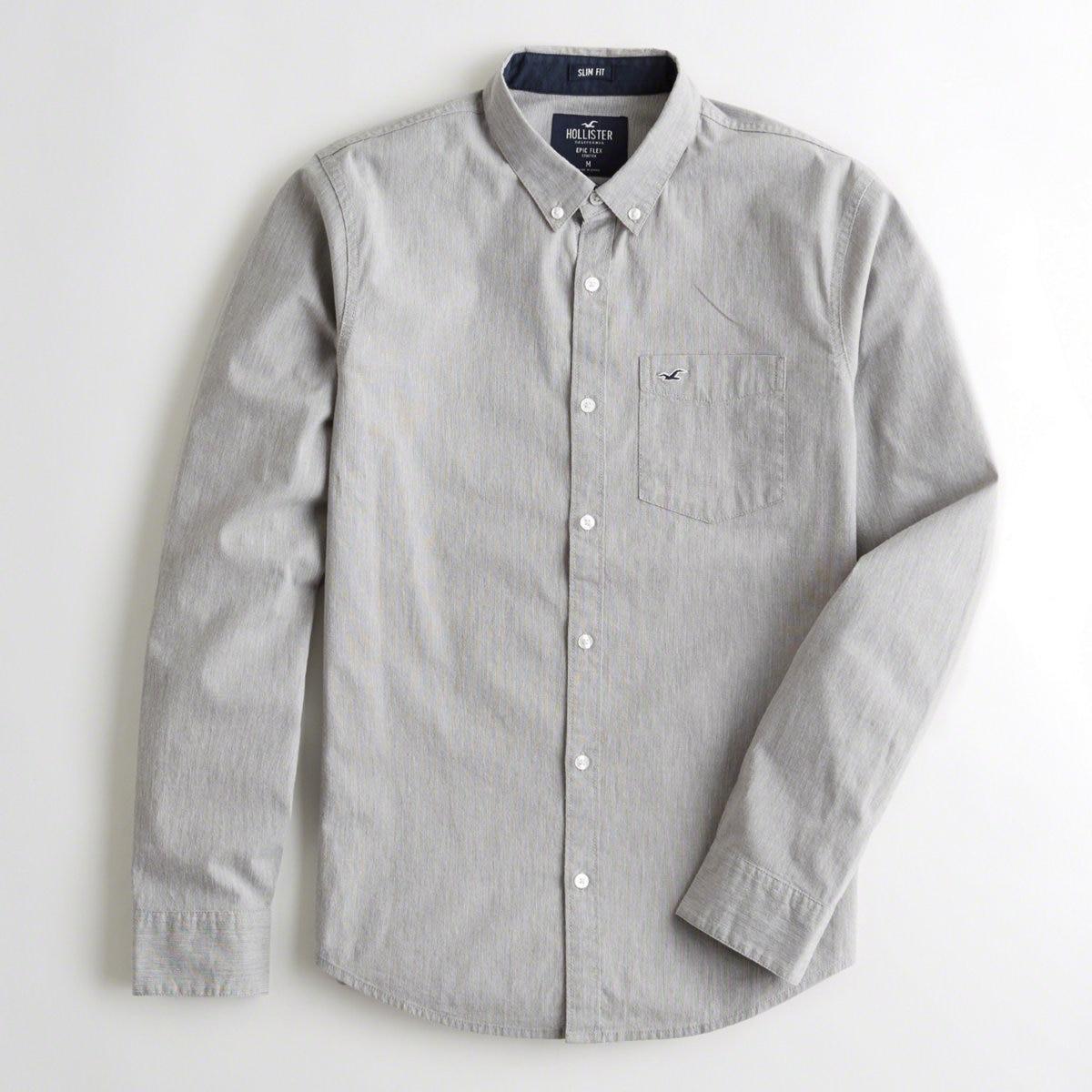 367ac195072 Lyst - Hollister Guys Stretch Poplin Slim Fit Shirt From Hollister ...