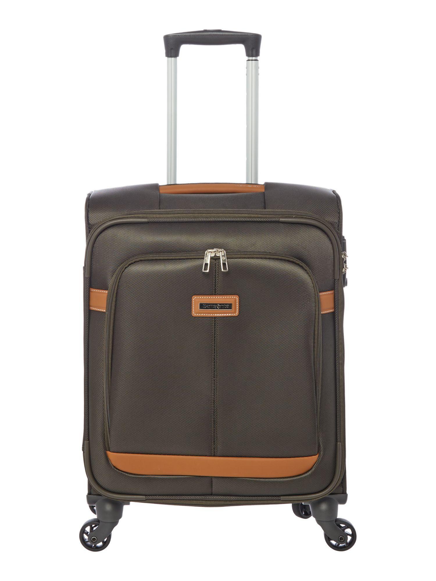 Lyst samsonite caphir olive 4 wheel soft cabin suitcase for Samsonite cabin luggage