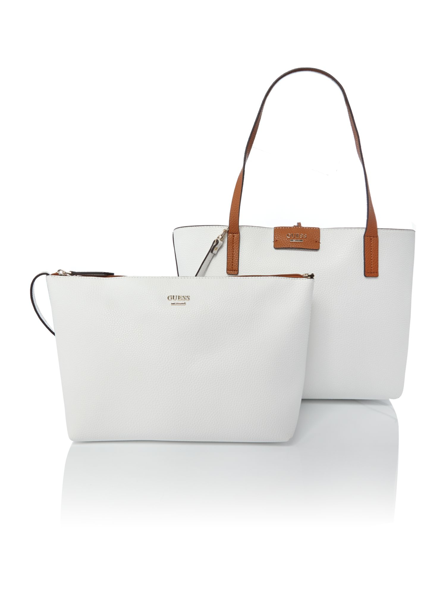 Lyst Guess White Reversible Tote Bag In White