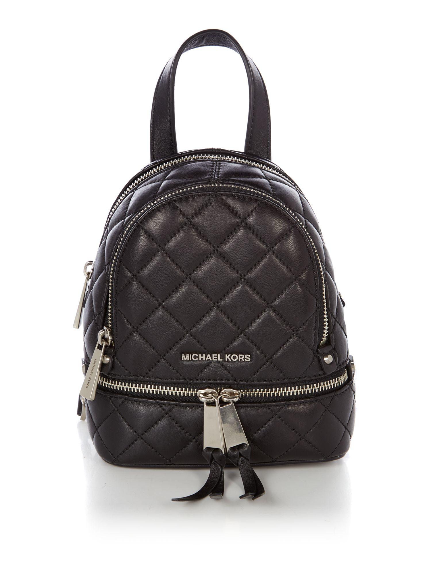 michael kors rhea zip medium backpack in black lyst. Black Bedroom Furniture Sets. Home Design Ideas