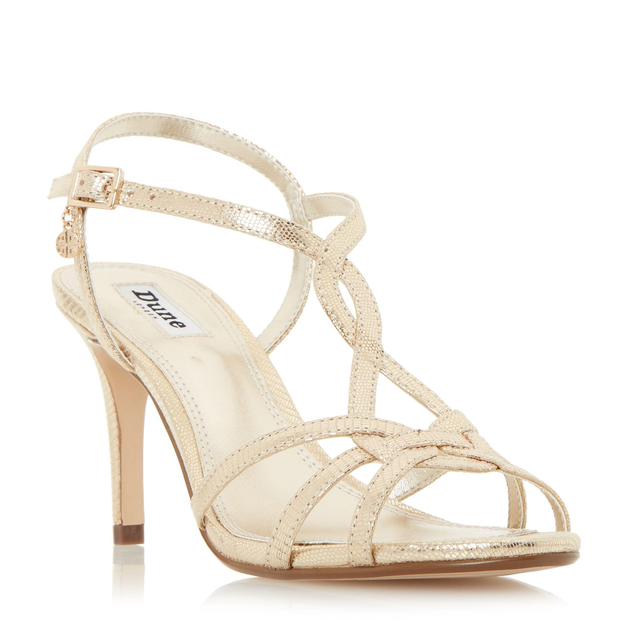 e95164a93a5 Dune Miniee Strappy Mid Sandals in Metallic - Lyst