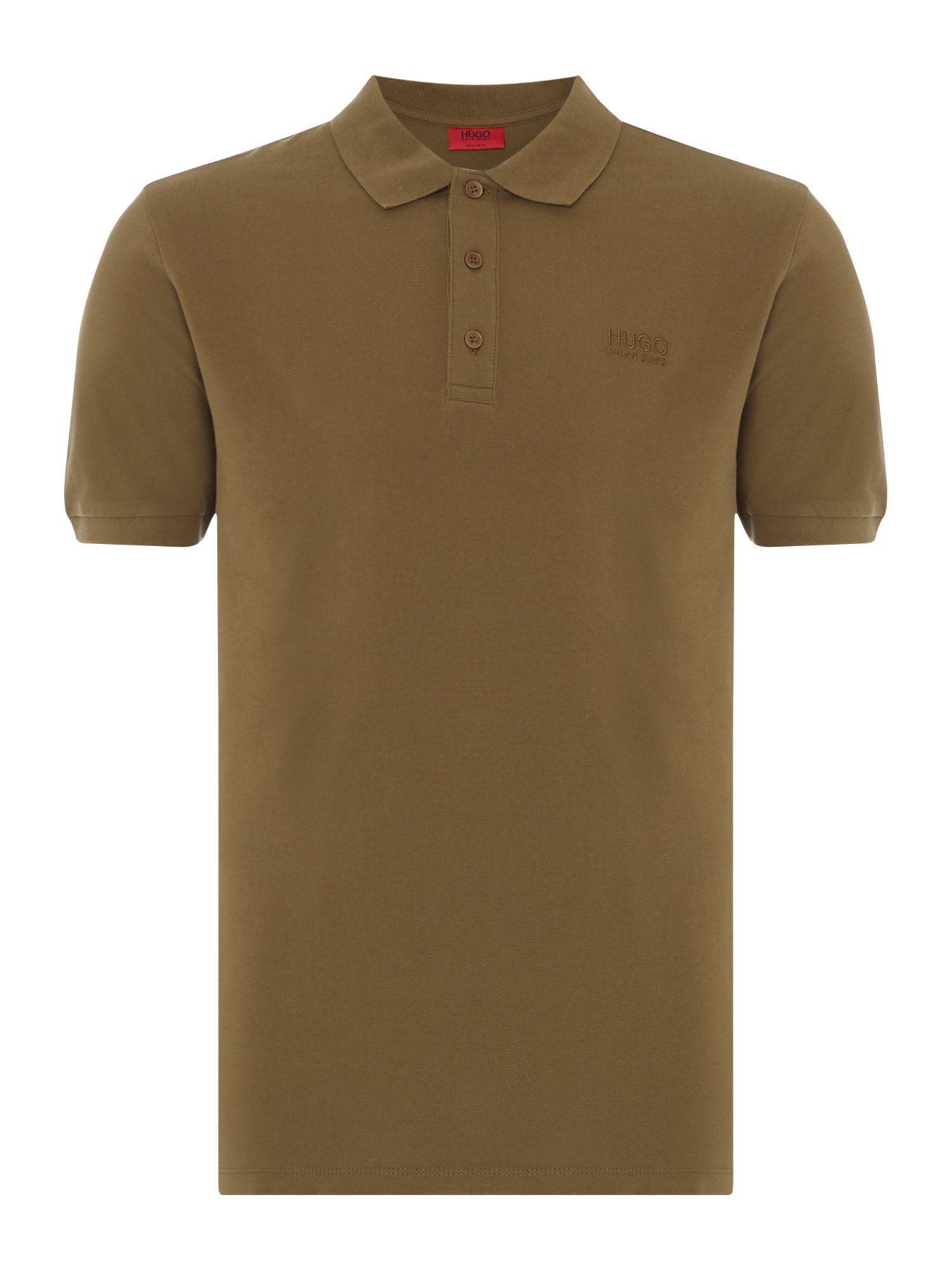 d41e48308 Hugo Men's Donos Logo Polo Shirt in Green for Men - Lyst