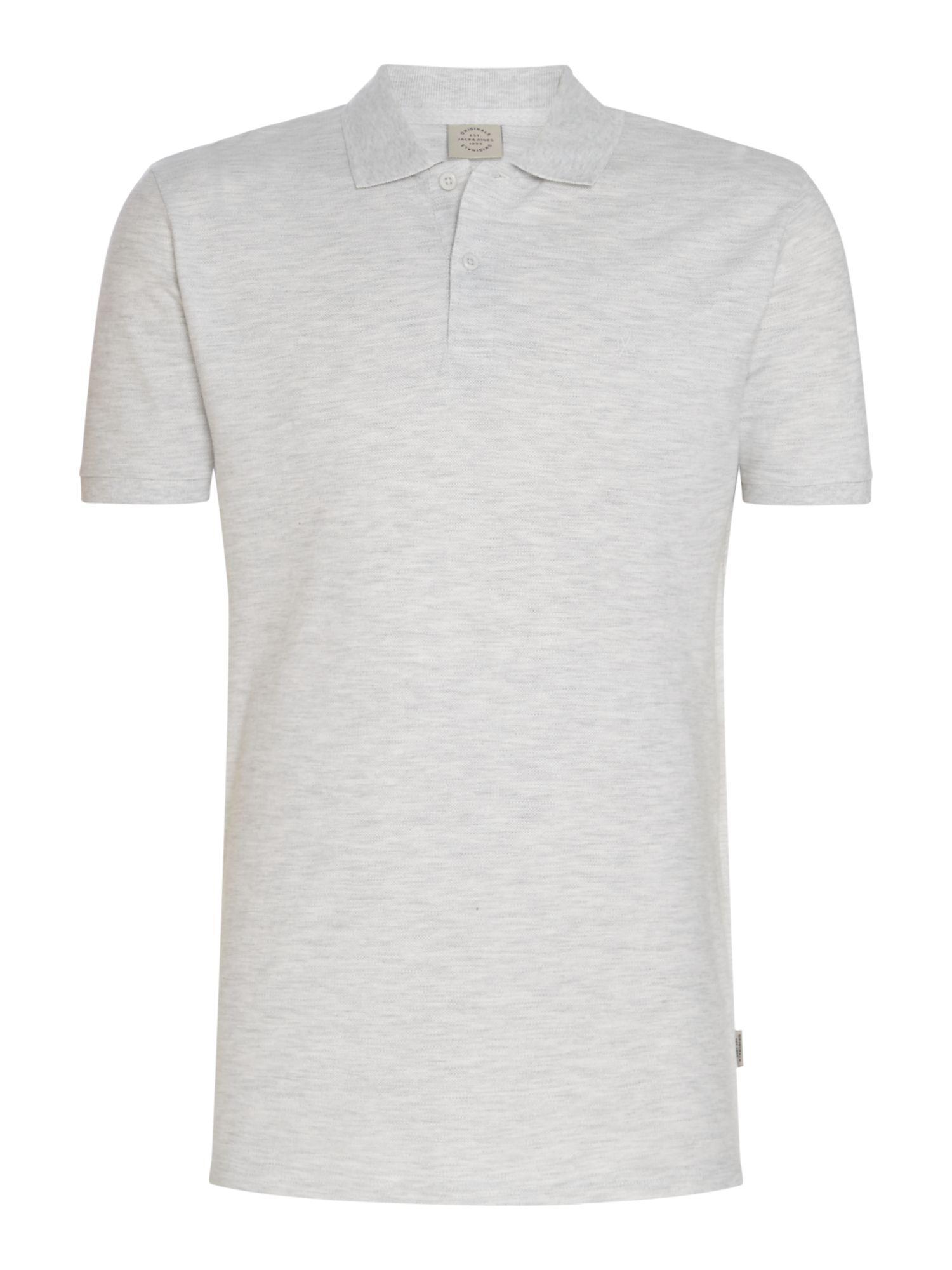 JACK & JONES Classic Polo Shirt Men Grey 4LE0slE