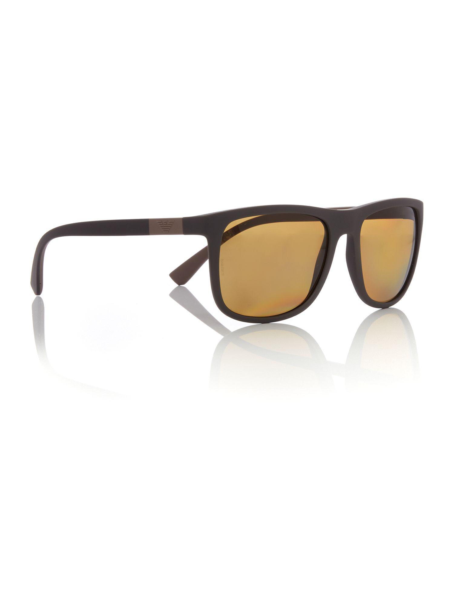Emporio Armani Matte Brown Square Ea4079 Sunglasses in Brown for Men ... 5286433c65