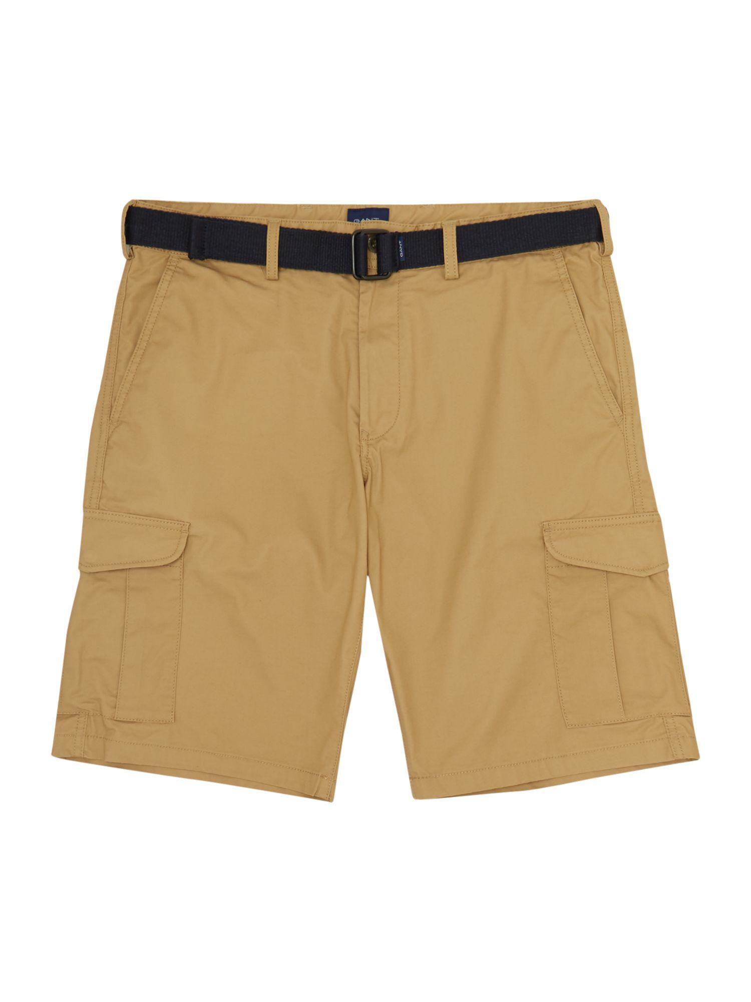 1c672846b9 Featured. Gant | Natural Men's Belted Cargo Short for Men | Lyst