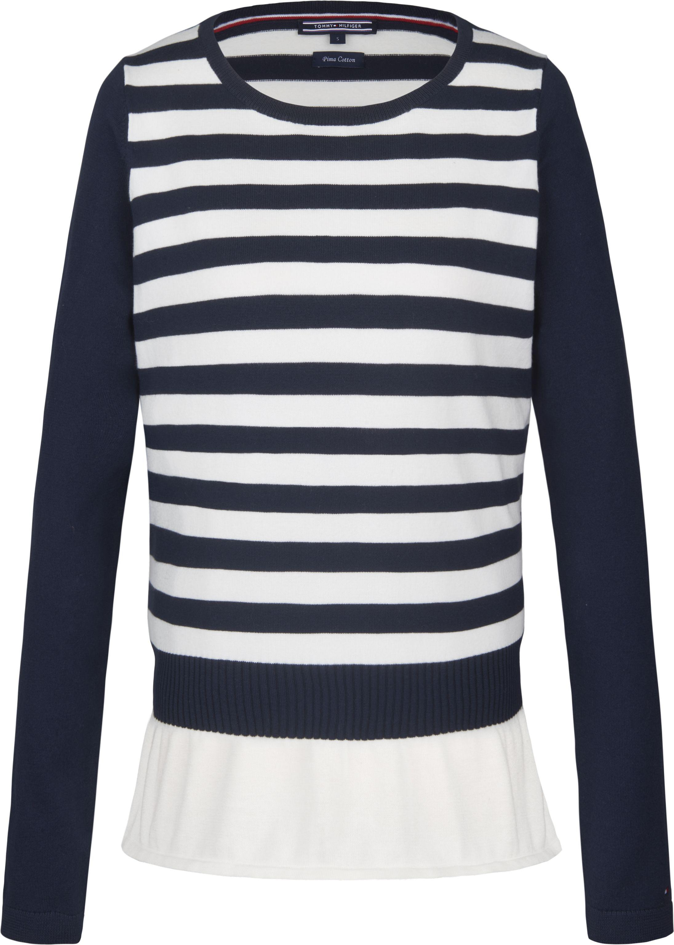 Tommy Hilfiger ROSEMARY PEPLUM - Pullover - blue
